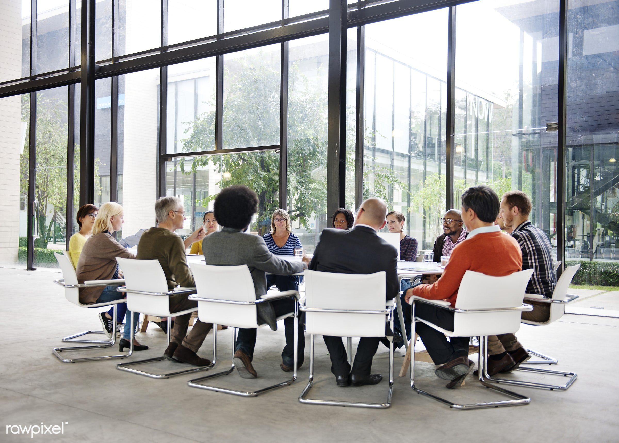 Business People Meeting Conference Corporate Concept - brainstorm, business, businessman, collaboration, colleagues,...