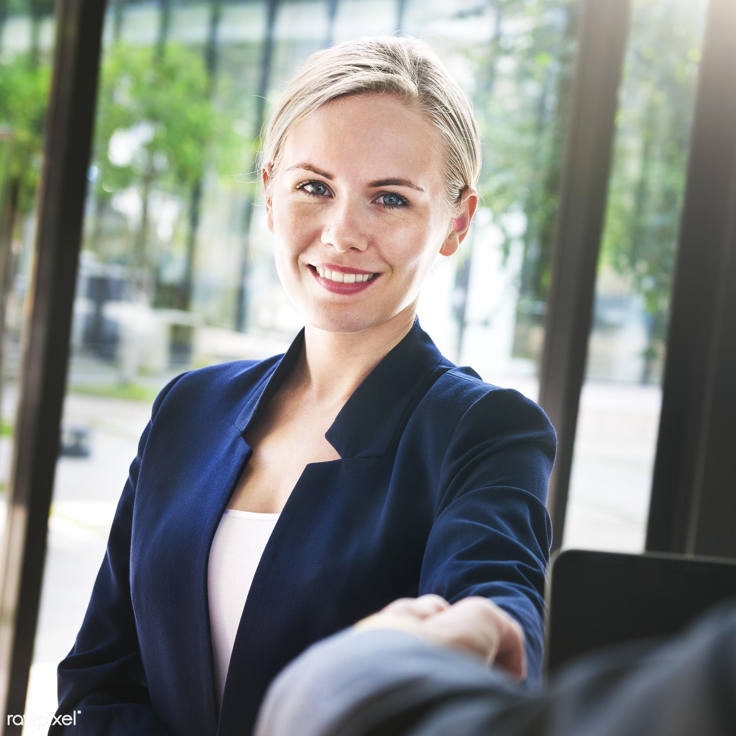 achievement, agreement, beginning, business, business person, business relationship, businesswoman, cheerful, communication...