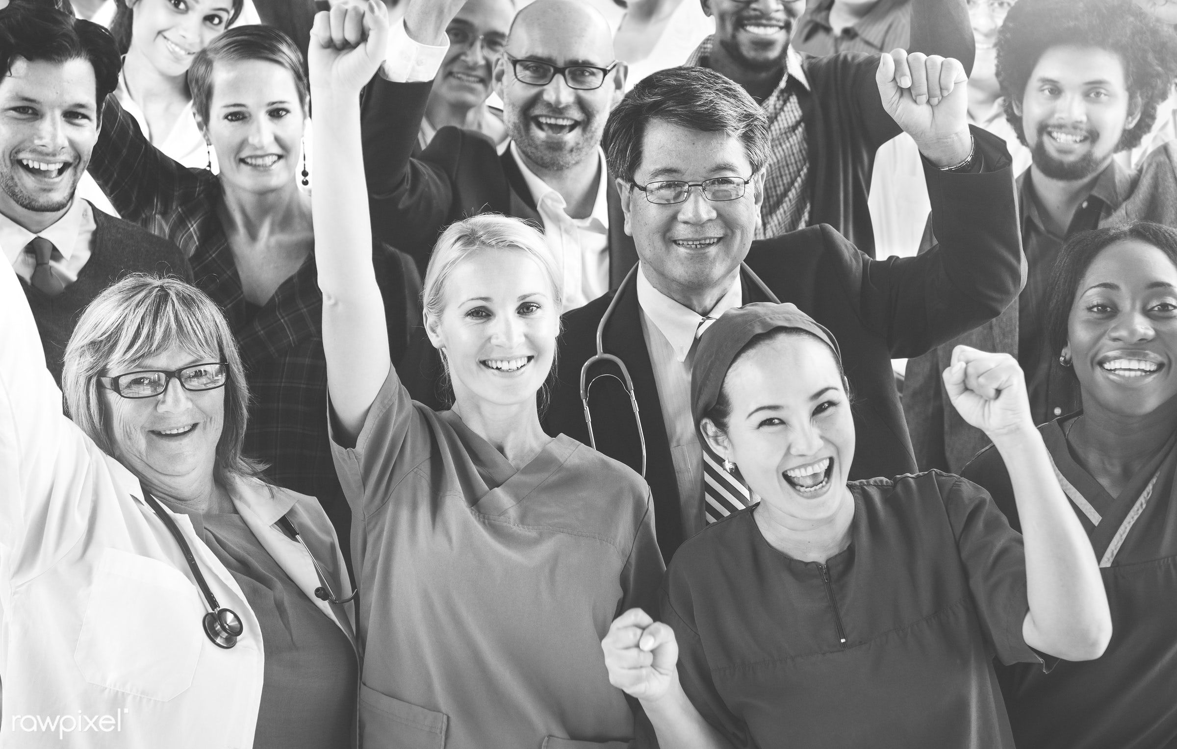 asian, caucasian, colleagues, diverse, doctor, group, healthcare, medical, nurses, people, team, teamwork, together, women,...