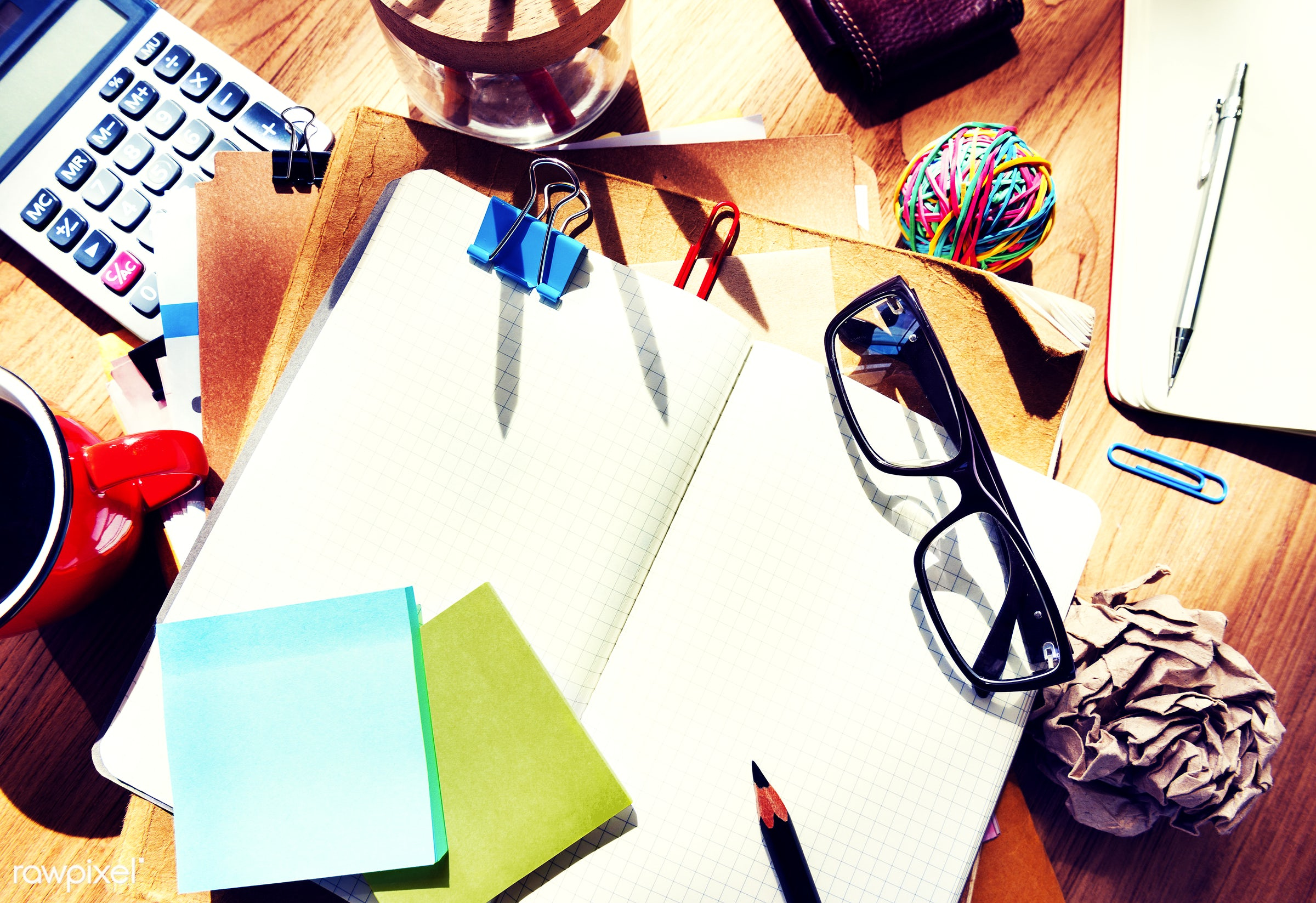architect, architectural equipments, architecture, blank note, brown table, calculator, coffee, color swatch, contemporary,...