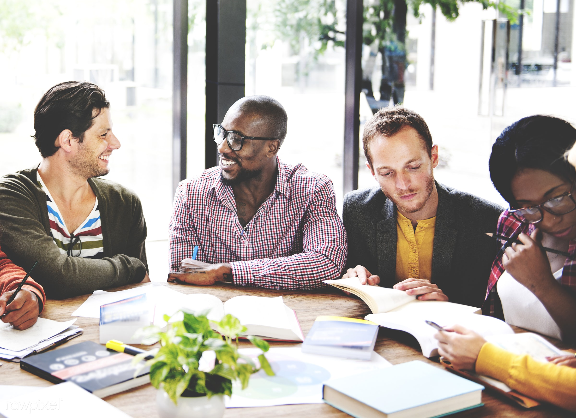achievement, african descent, brainstorming, business people, businessmen, businesswomen, casual, cheerful, collaboration,...