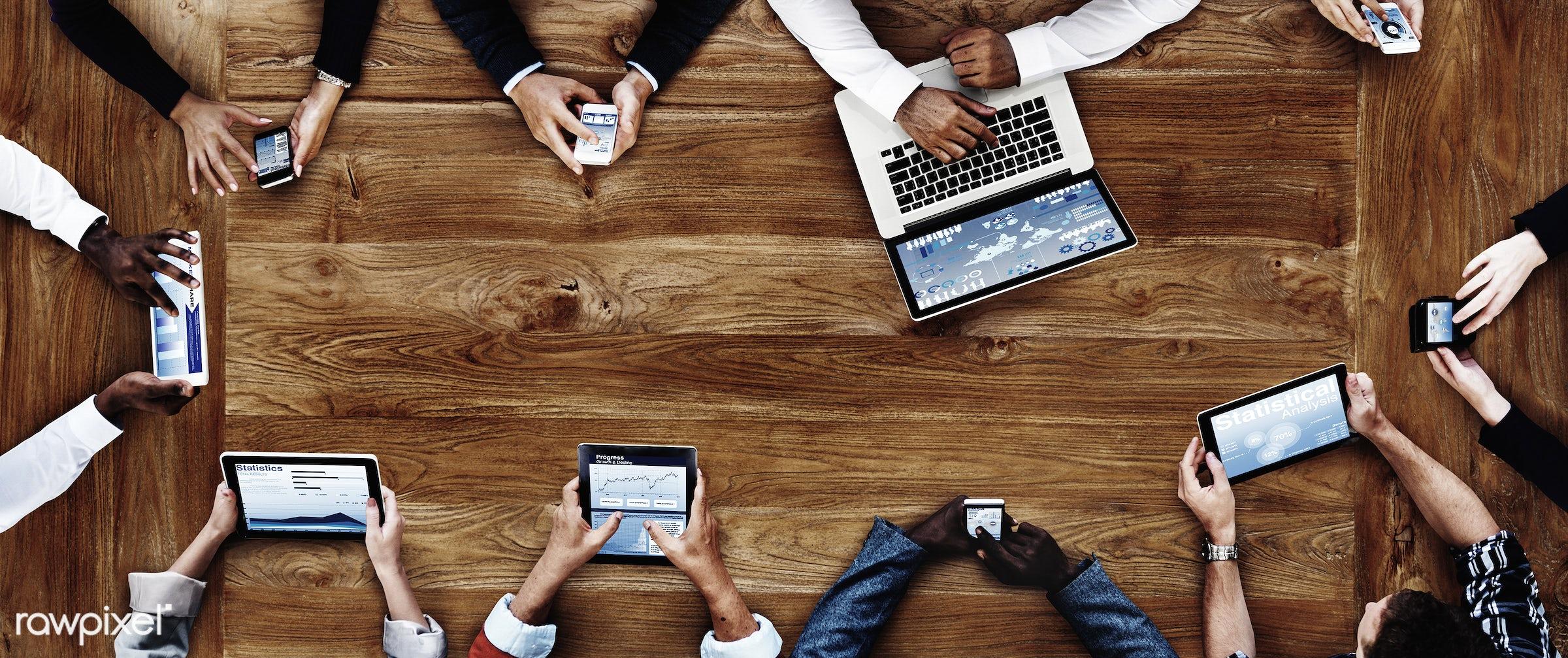 wireless technology, aerial view, analysis, business, business people, businessmen, businesswomen, cloud computing,...
