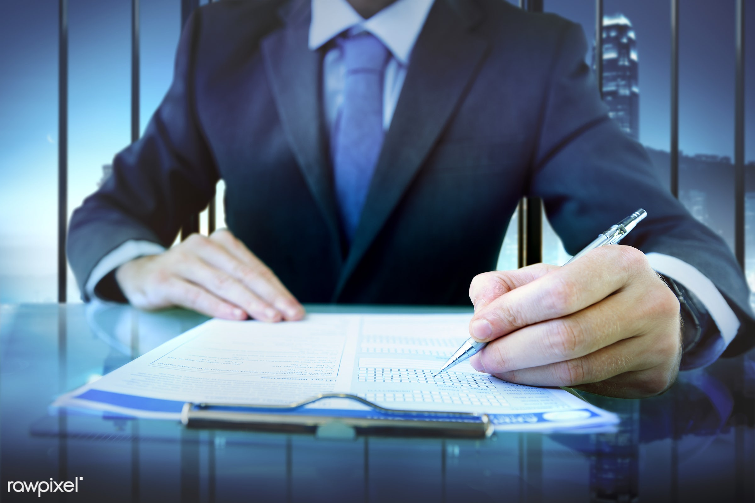 Businessman is filling application form - application, board, business, businessman, clipboard, data, detail, fill, form,...