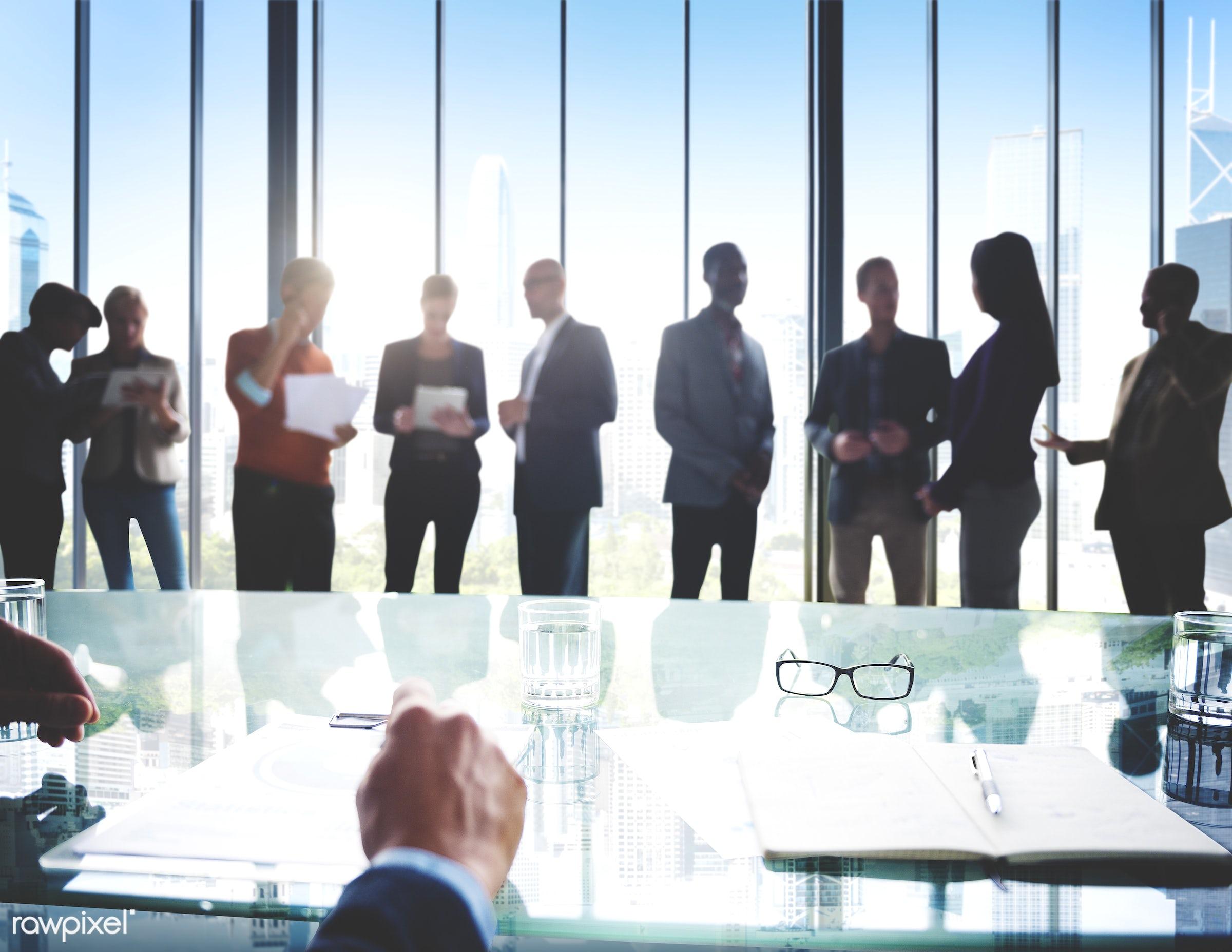 african descent, asian ethnicity, board room, brainstorm, brainstorming, building, business, business people, businessmen,...