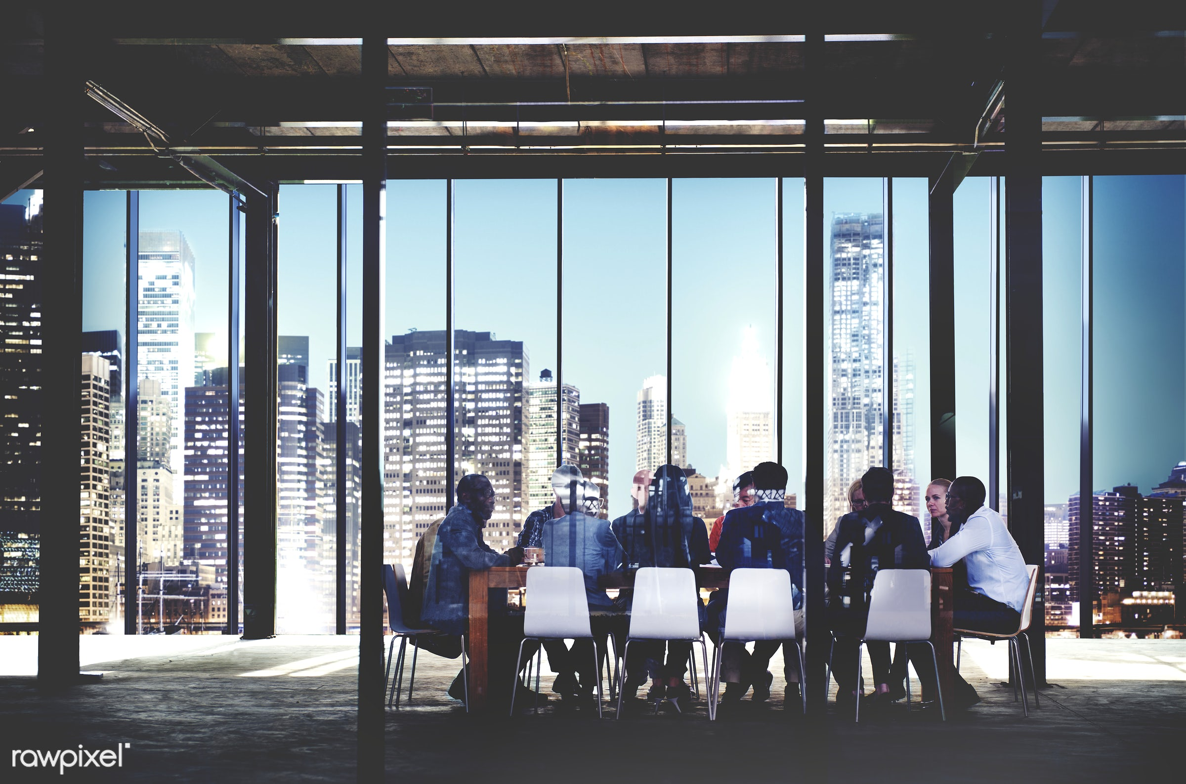 Group of diverse people having a business meeting - brainstorm, business, businessman, collaboration, colleagues, conference...