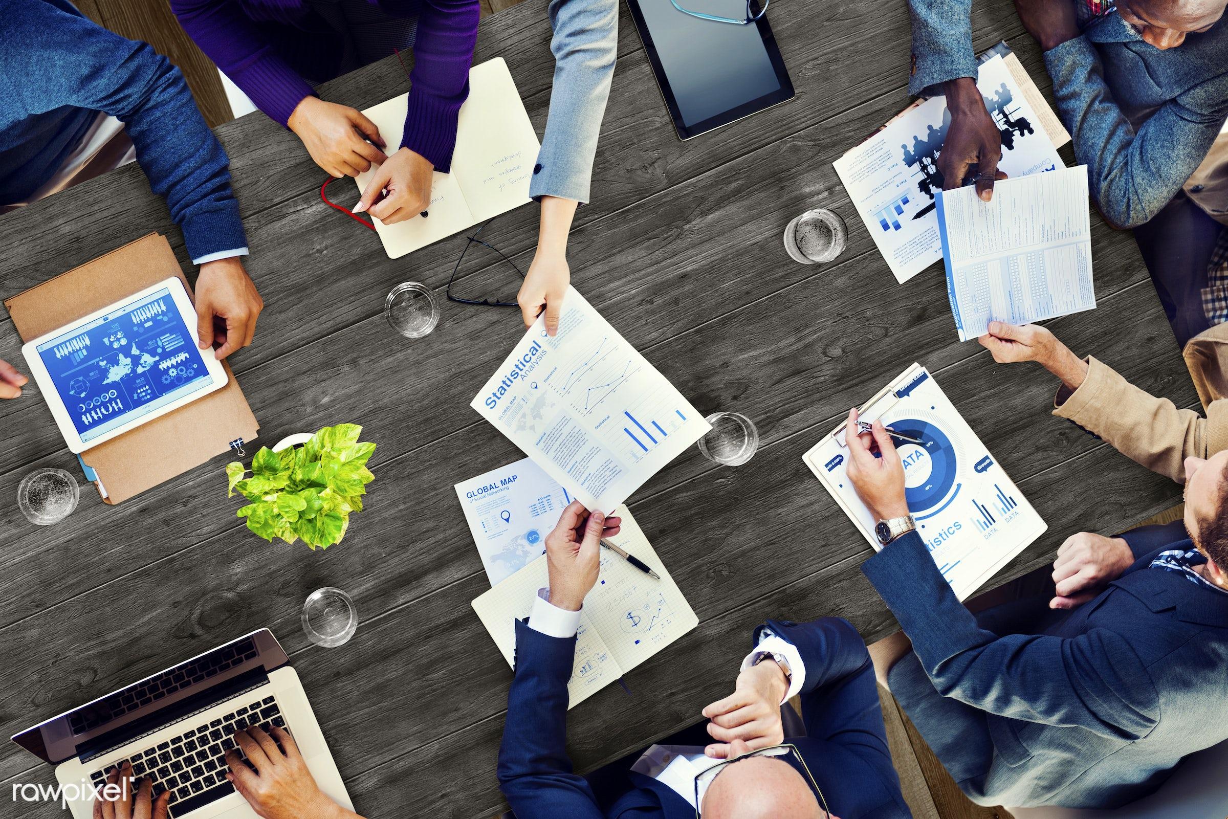 aerial view, analysis, brainstorming, business, business people, businessman, businessmen, businesswoman, businesswomen,...