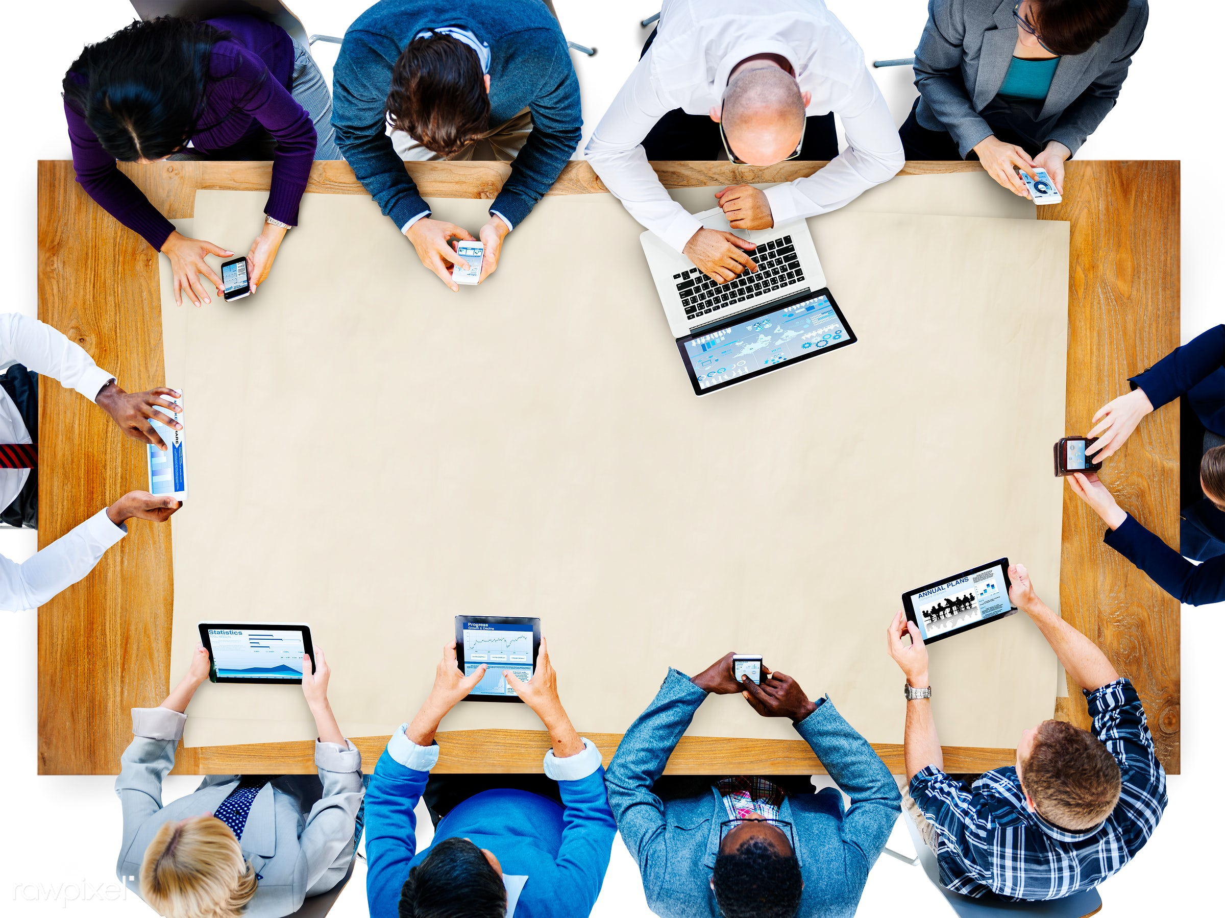 aerial view, african descent, asian ethnicity, board meeting, board room, brainstorming, business, business people,...