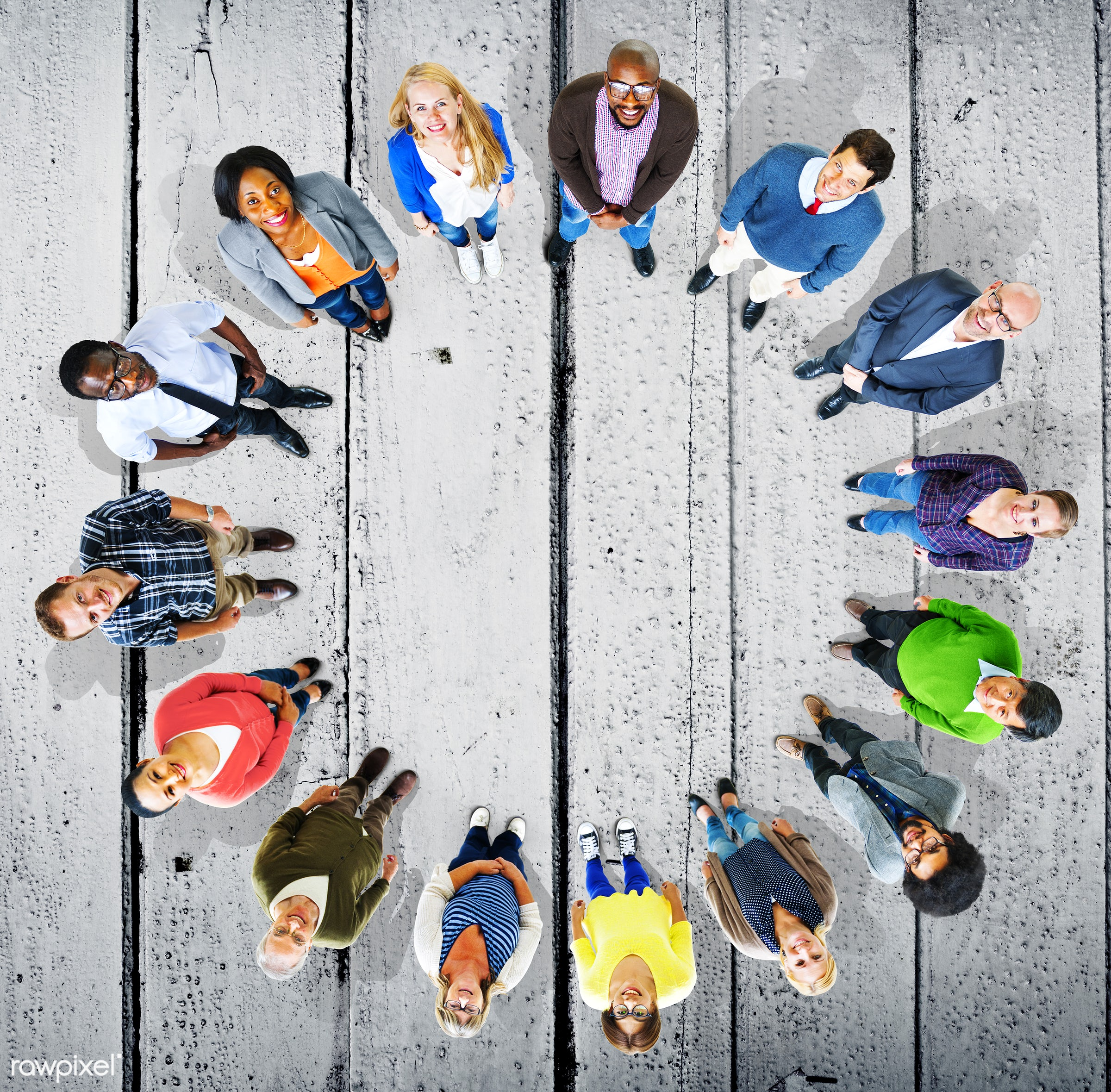 aerial view, african, african descent, asian, asian ethnicity, backgrounds, blue, business, circle, close-up, colorful,...