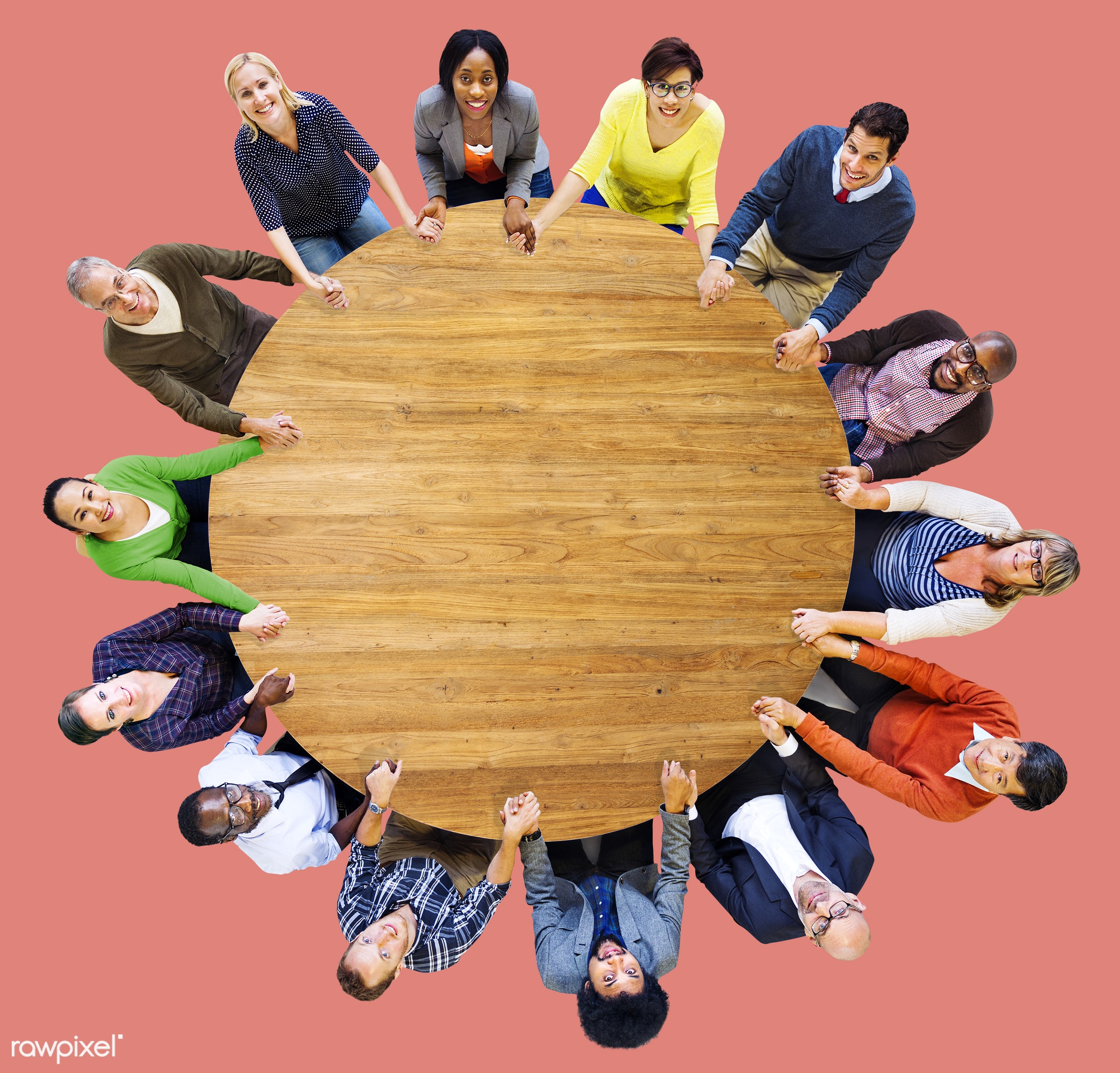 aerial view, african descent, asian ethnicity, backdrop, casual, cheerful, circle, color, colorful, community, cooperation,...