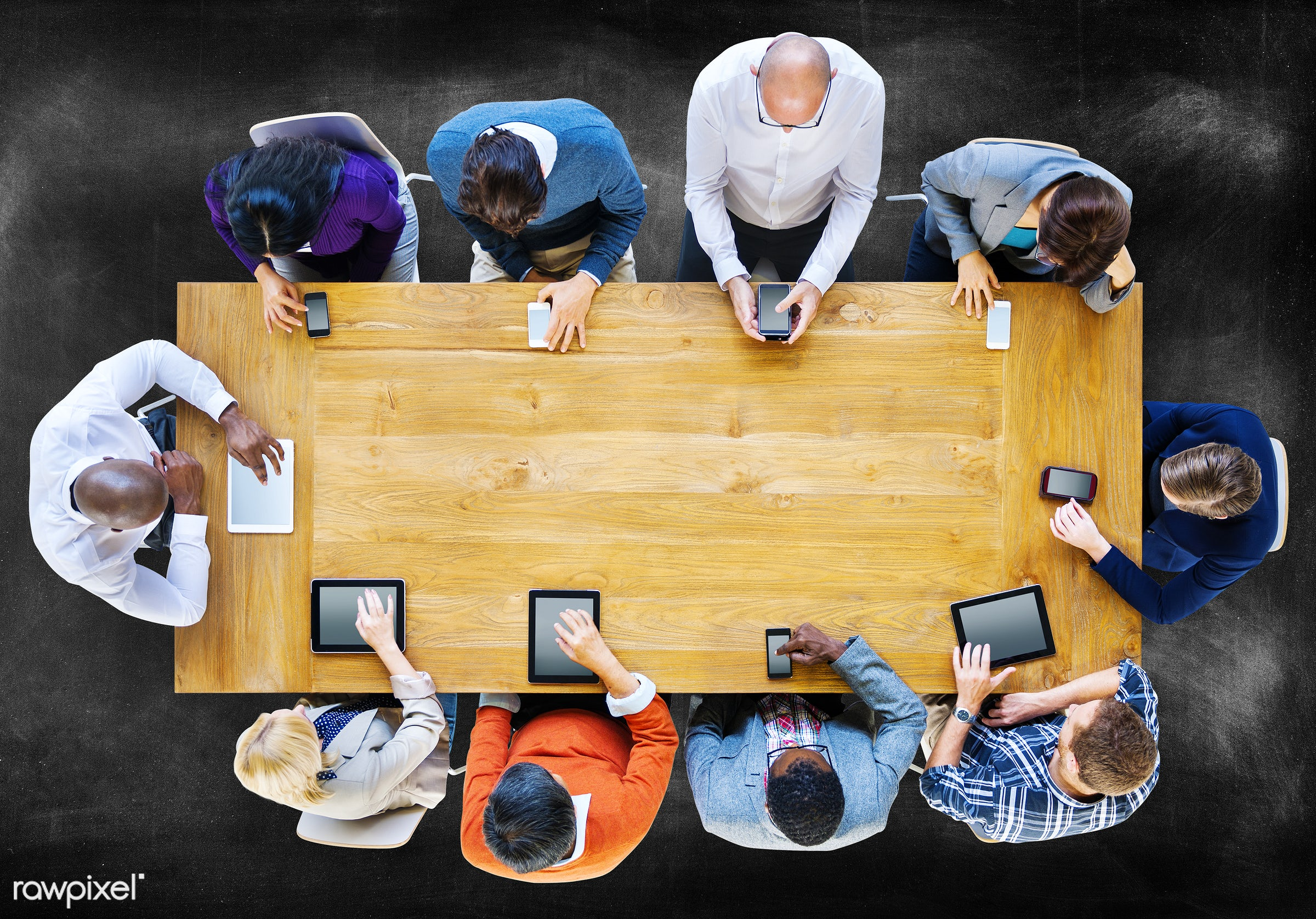 mobility, aerial view, blackboard, board, brainstorming, business, business people, casual, communication, concrete floor,...