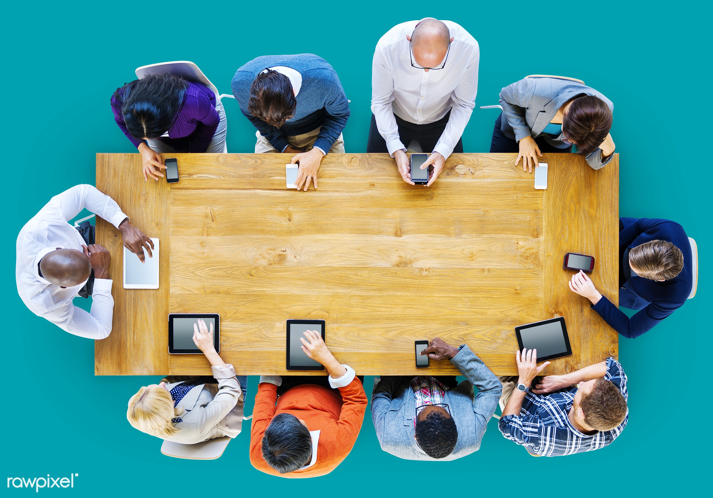 mobility, aerial view, brainstorming, business, business people, casual, communication, concrete floor, digital, digital...