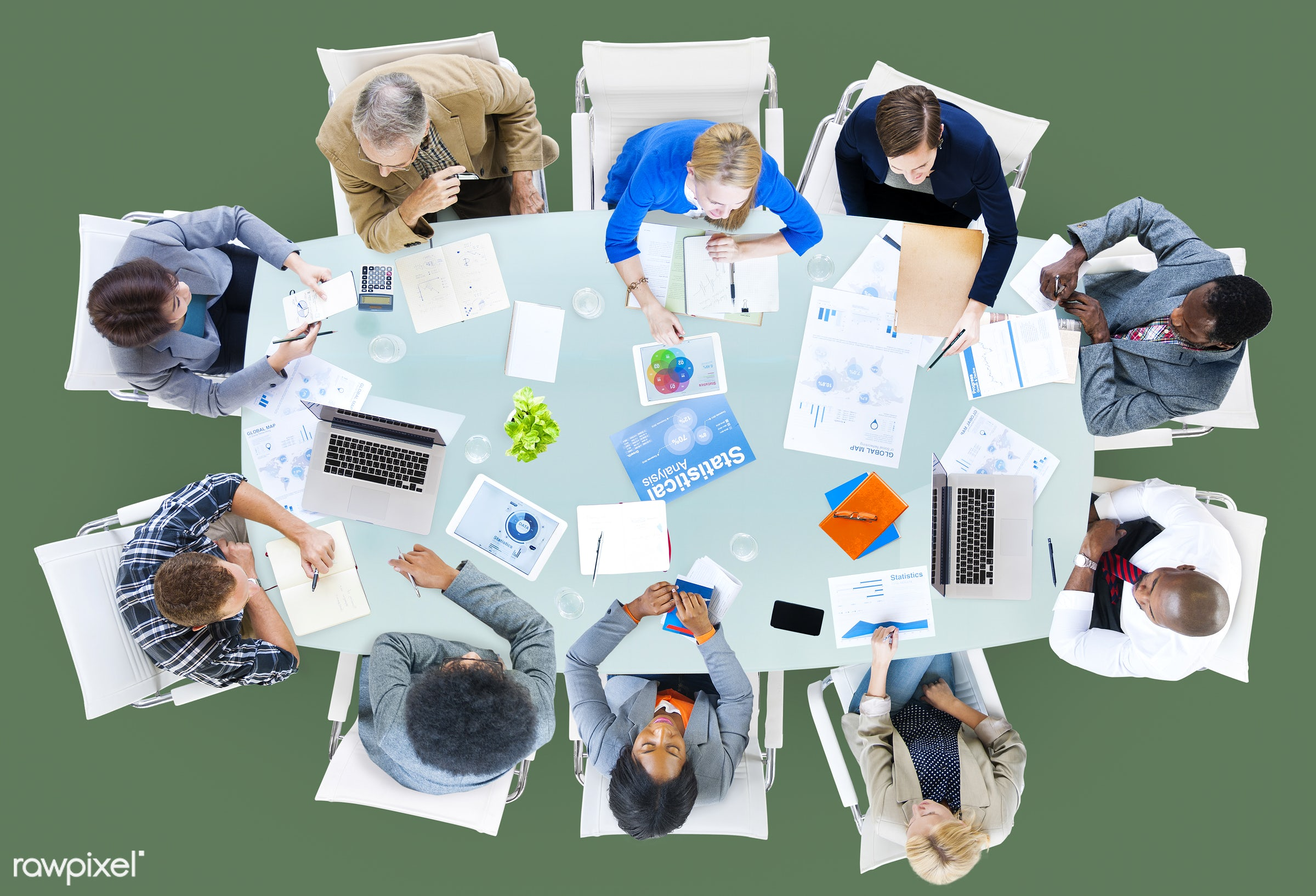aerial view, brainstorming, business, business people, businessmen, businesswomen, casual, communication, concrete floor,...