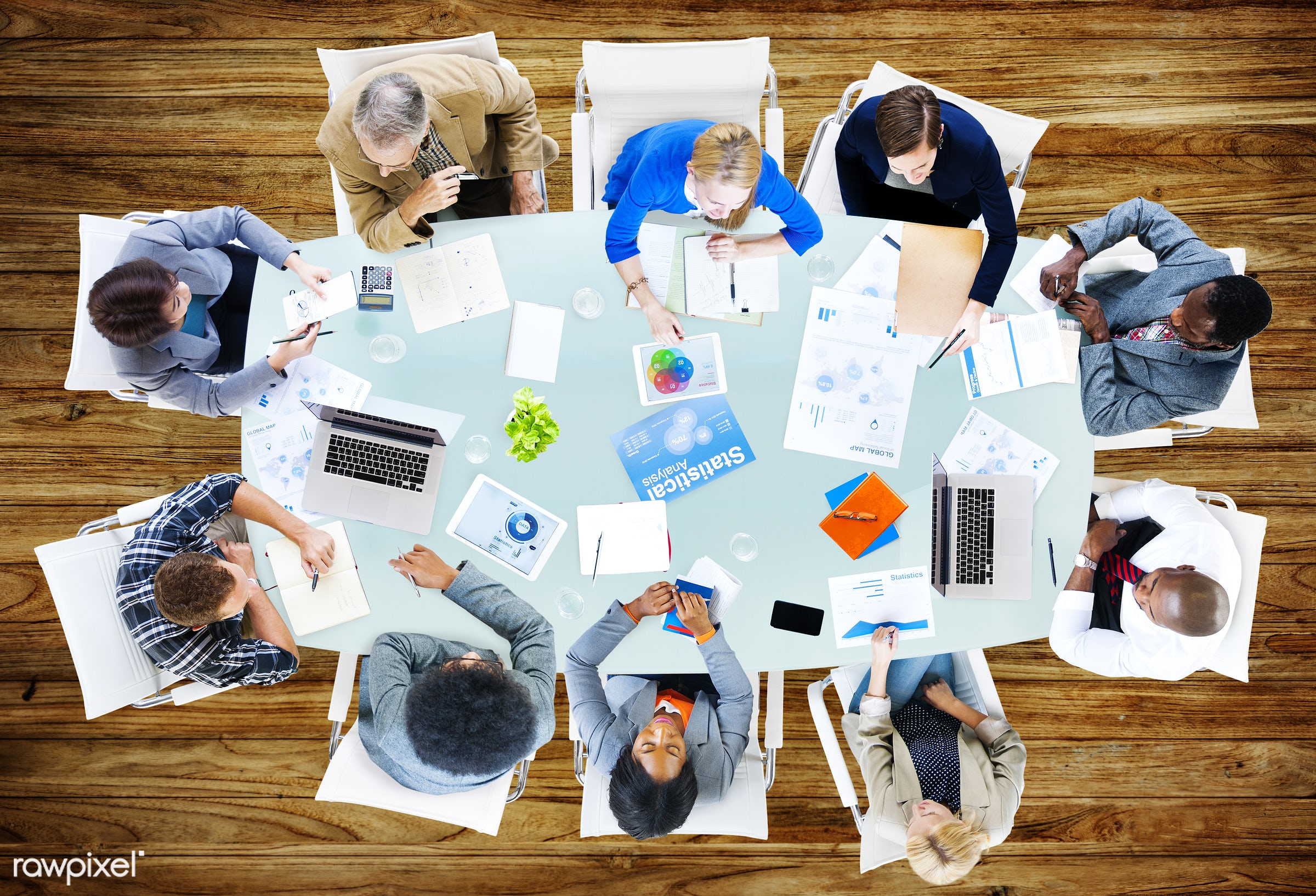 aerial view, backgrounds, brainstorming, business, business people, businessmen, businesswomen, casual, close-up,...