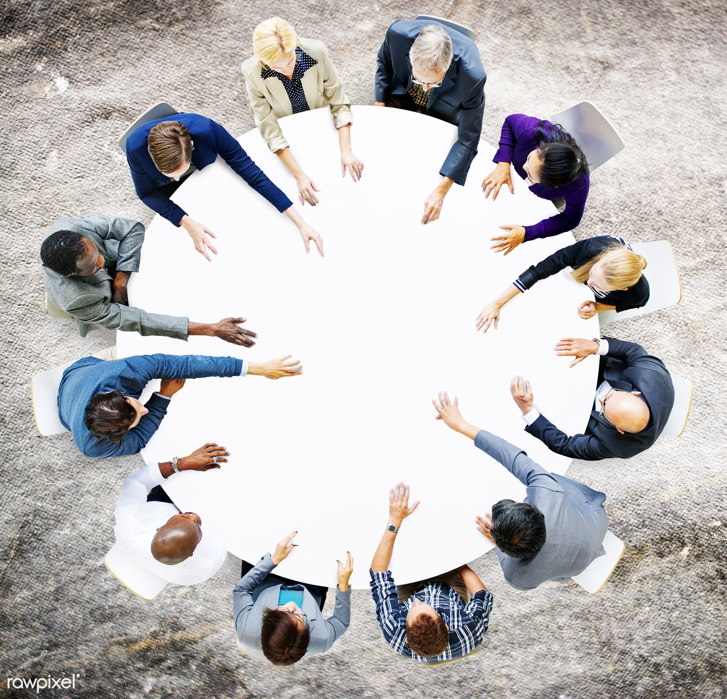 aerial view, african descent, analysing, asian ethnicity, blank, brainstorming, business, business people, businessmen,...