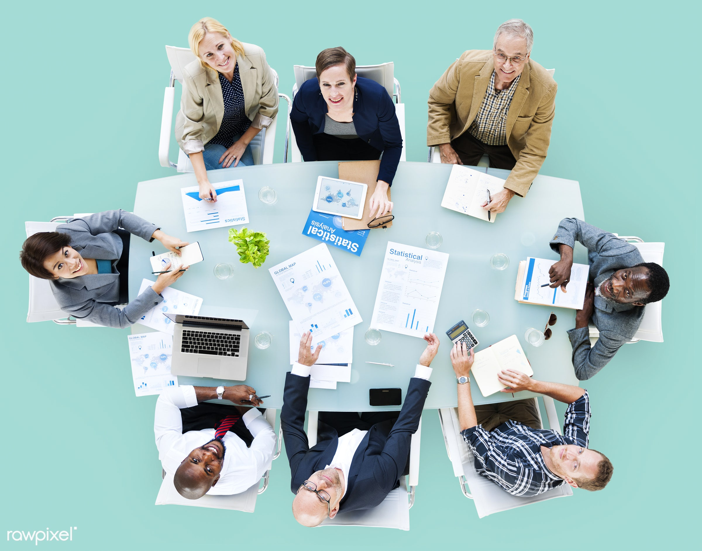 aerial view, african descent, analysis, asian ethnicity, background, board meeting, board room, business, business people,...