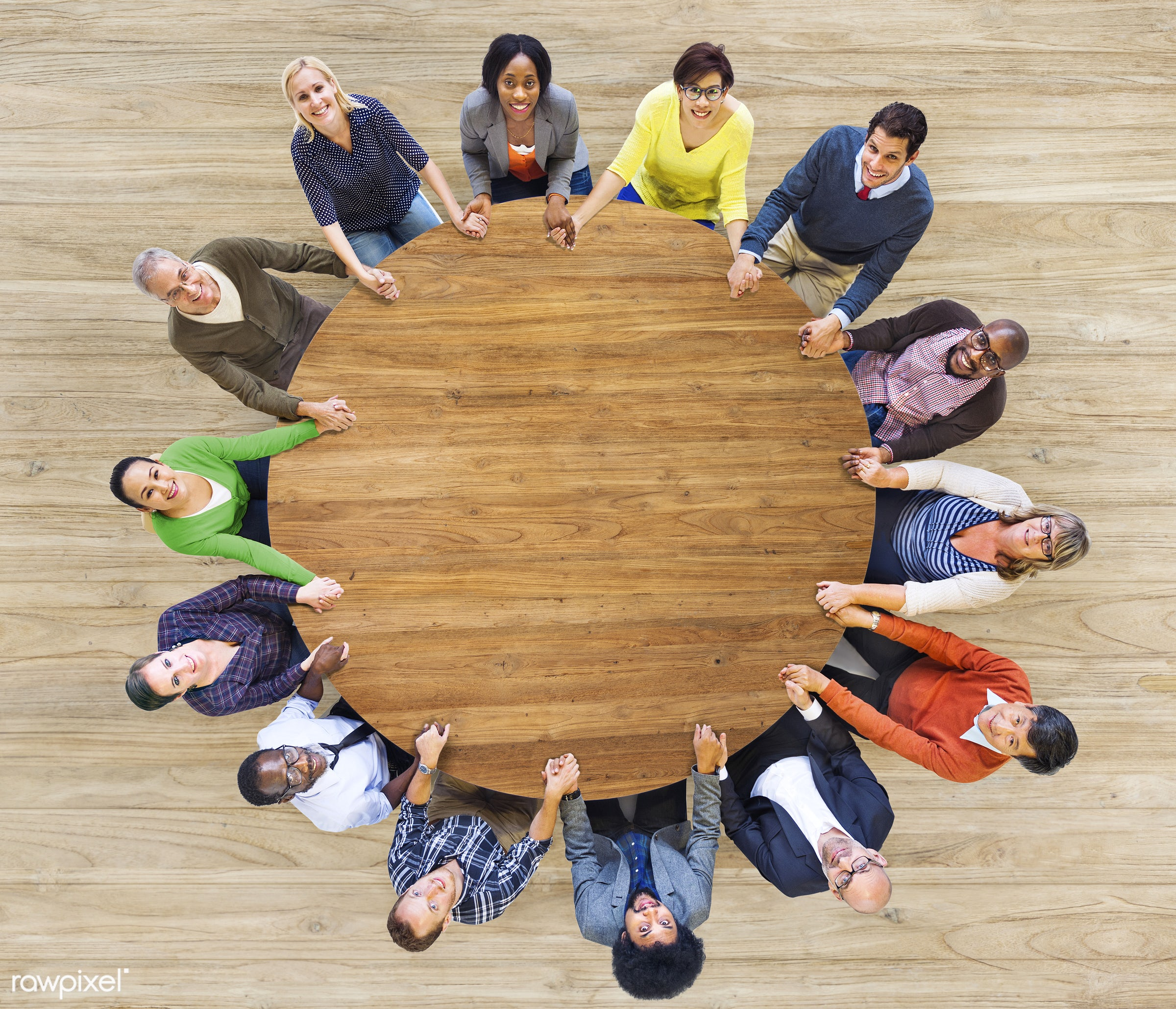 holding, aerial view, brainstorming, circle, colorful, community, concepts, conference, cooperation, diverse, diversity,...