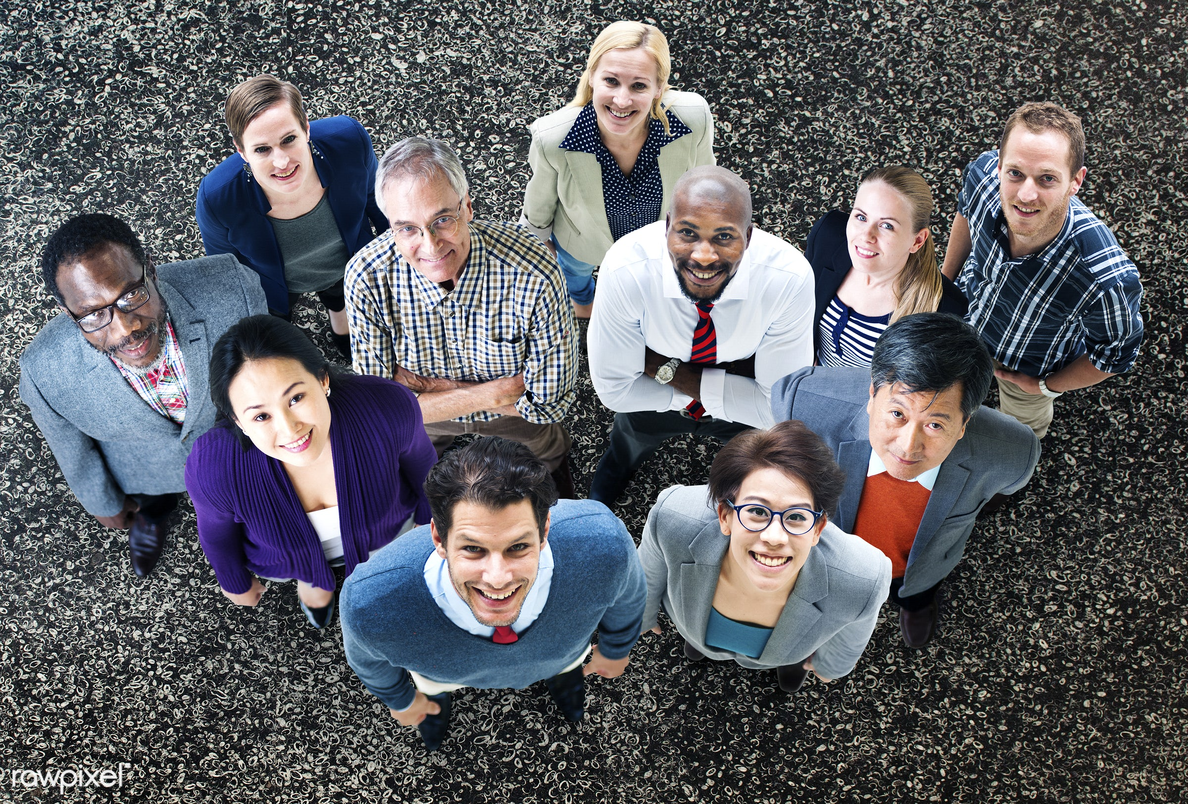 aerial view, african, african descent, asian, asian ethnicity, aspiration, business, business people, businessmen,...
