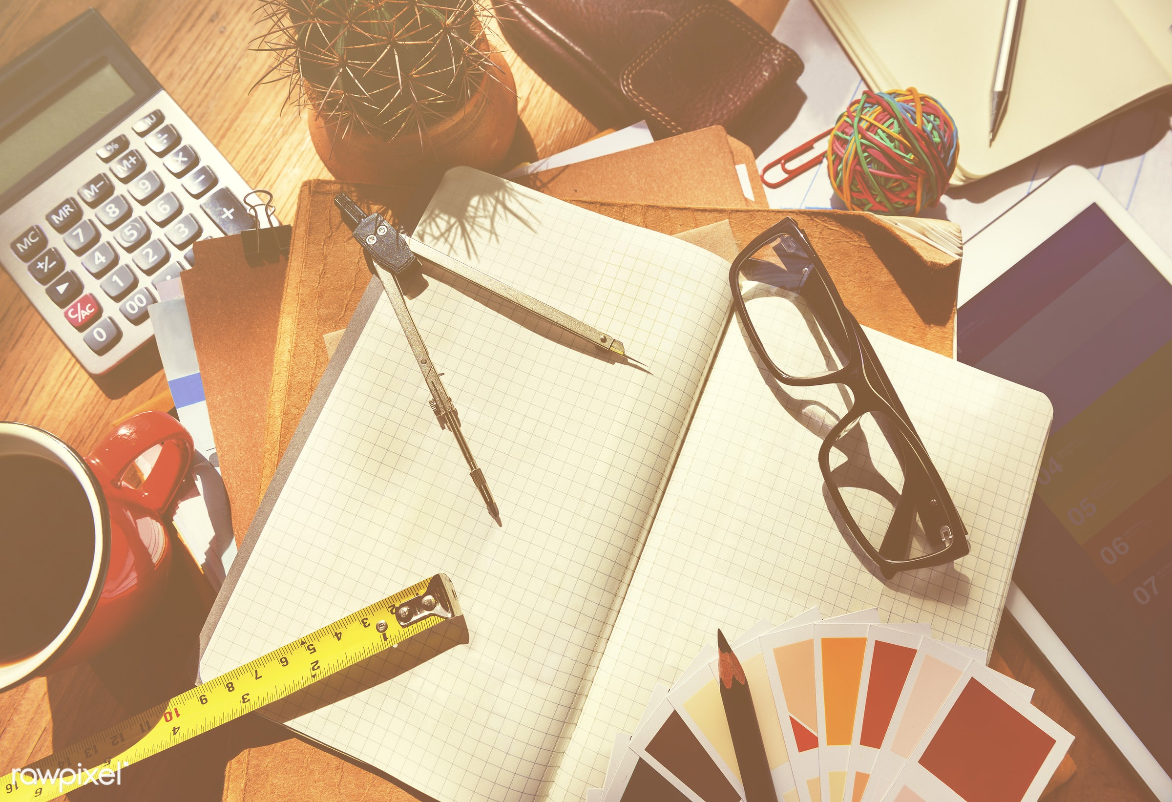 contemporary, architect, architecture, break, business, calculator, chaos, coffee, compass, concepts, copy space, creativity...