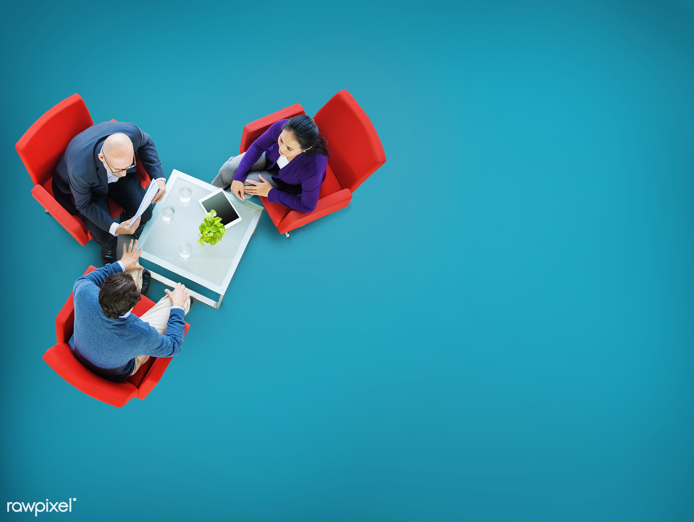 aerial view, blue, brainstorming, business, business people, businessmen, businesswomen, collaboration, communication,...