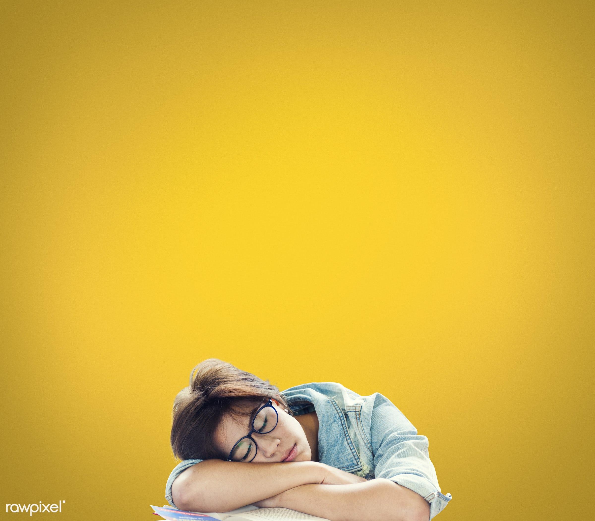 abstract, asleep, blank, bored, break, calm, casual, concept, copy space, design, hipster, idea, nap, no energy, plain,...