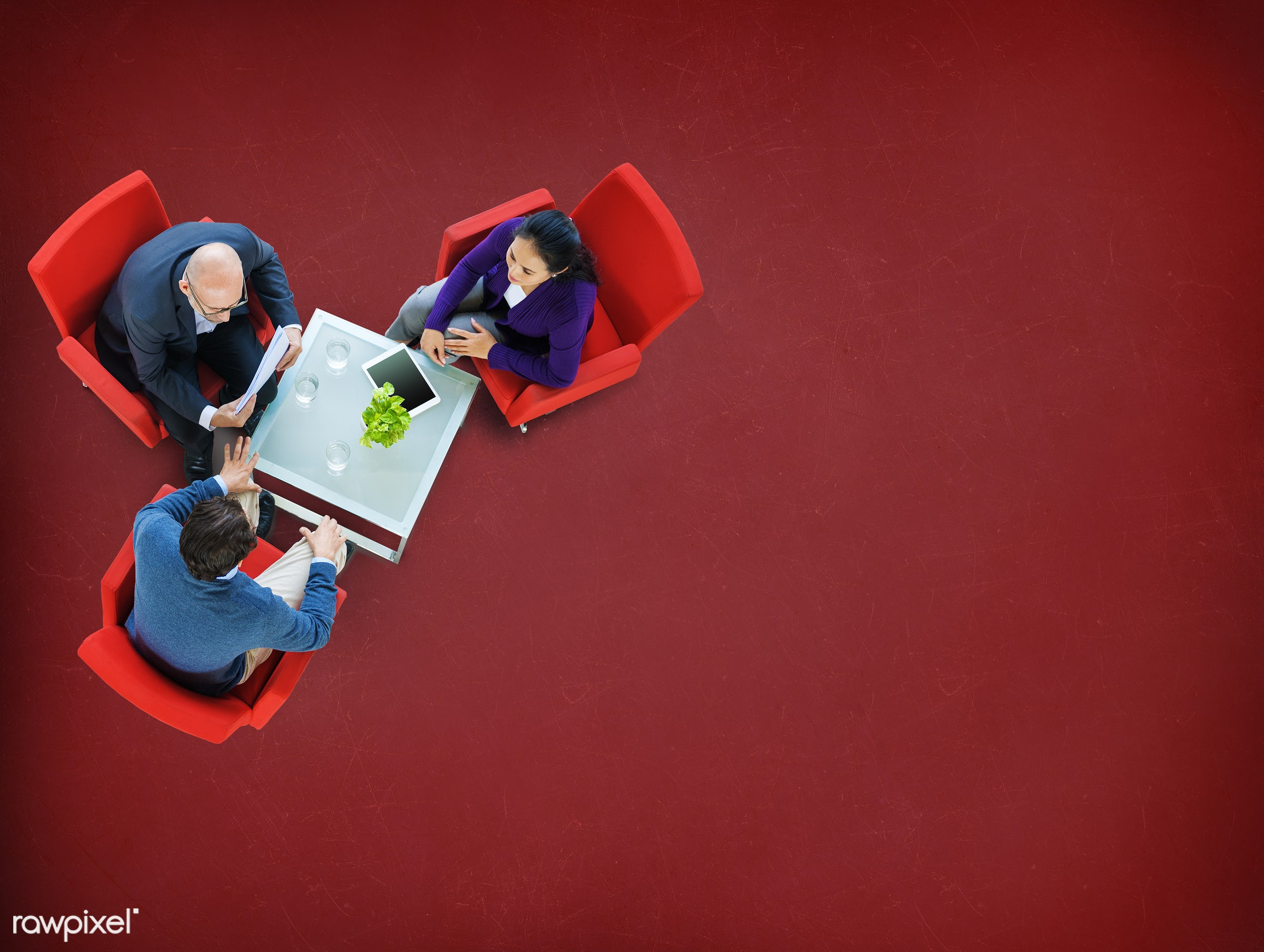 aerial view, brainstorming, business, business people, businessmen, businesswomen, collaboration, communication, conference...