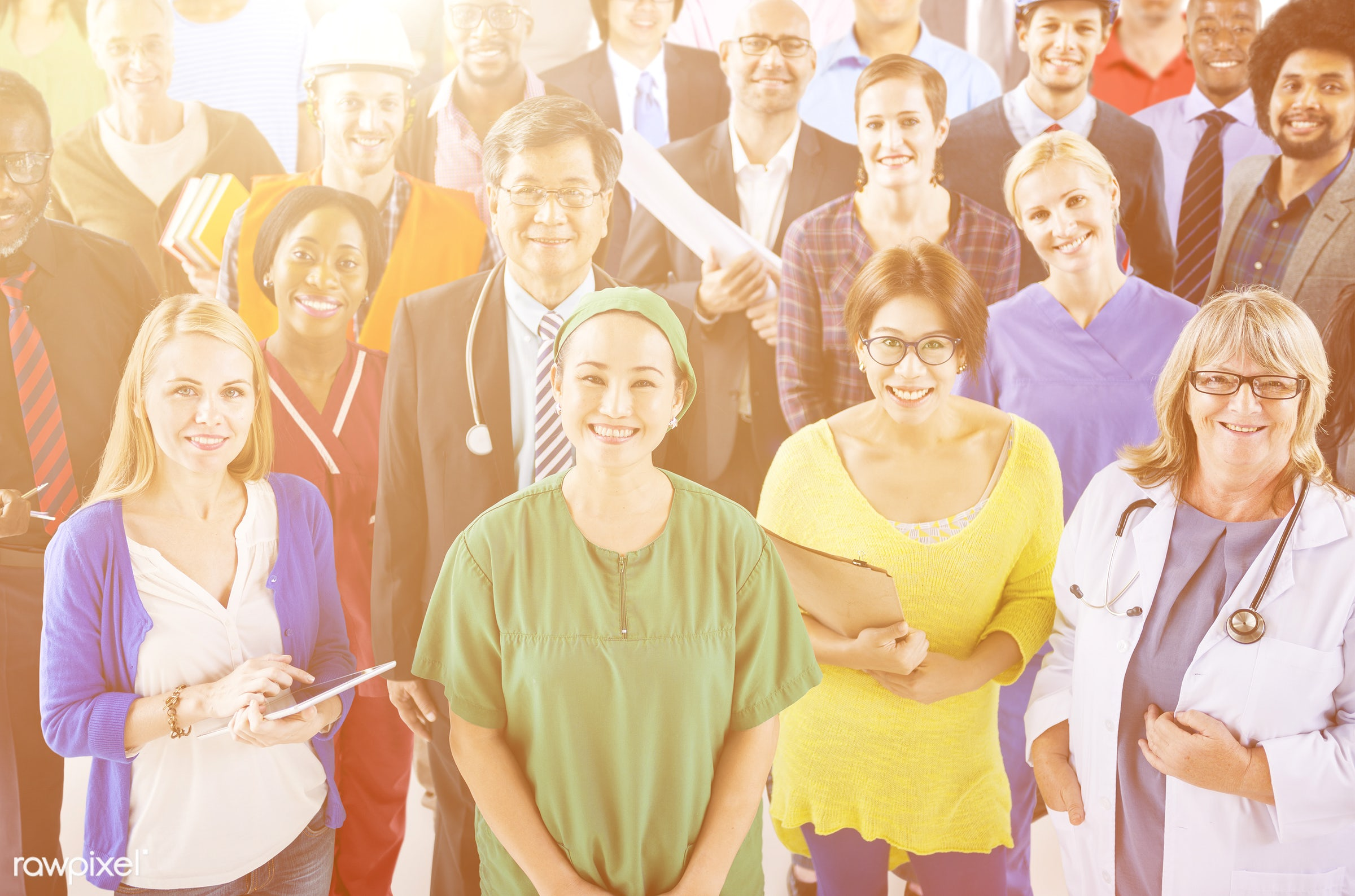 asian, caucasian, colleagues, diverse, doctor, group, healthcare, medical, nurses, people, team, teamwork, together, career...