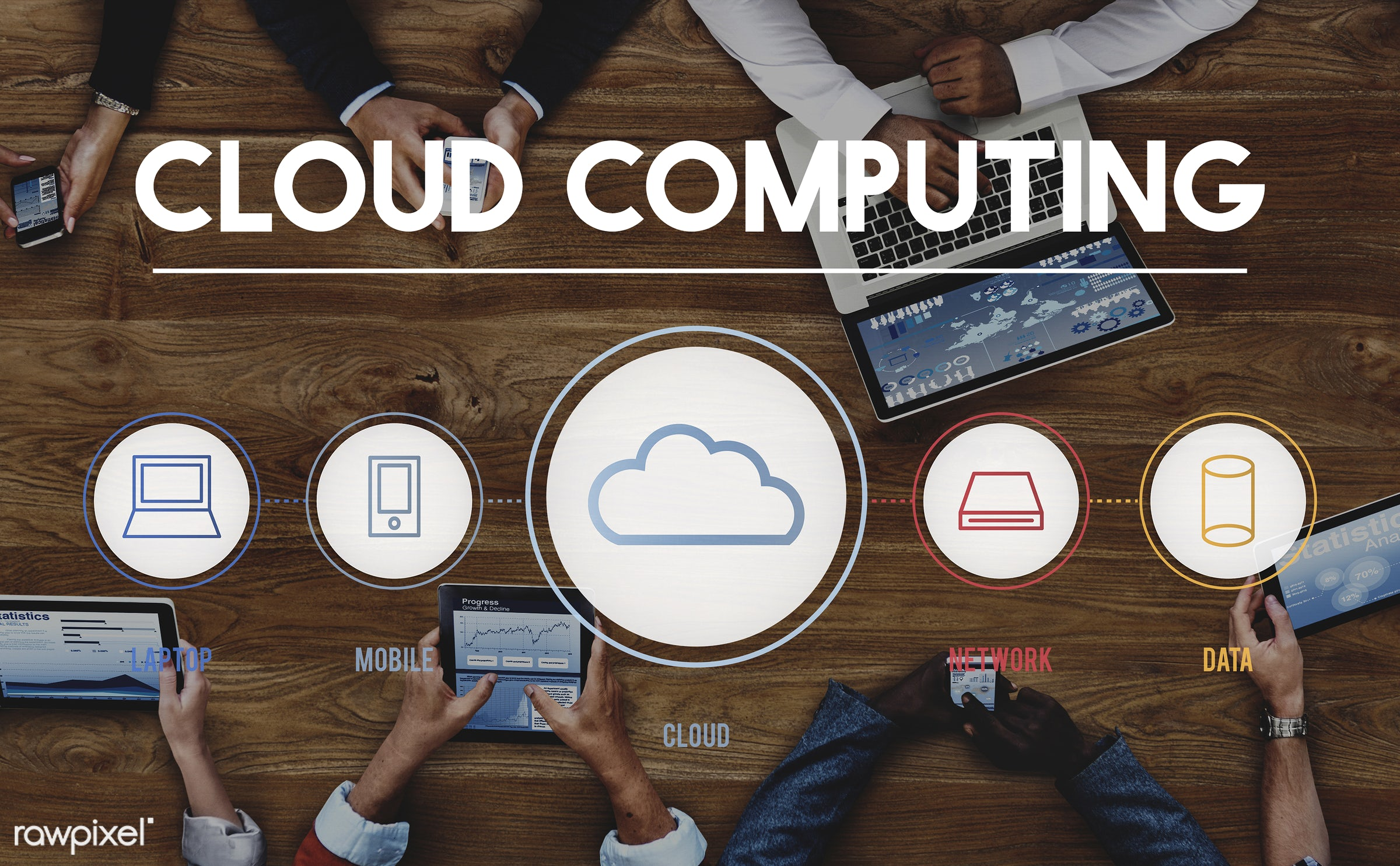 aerial view, business, businessmen, businesswomen, cloud, computer, computing, connection, data, digital tablet, finance,...