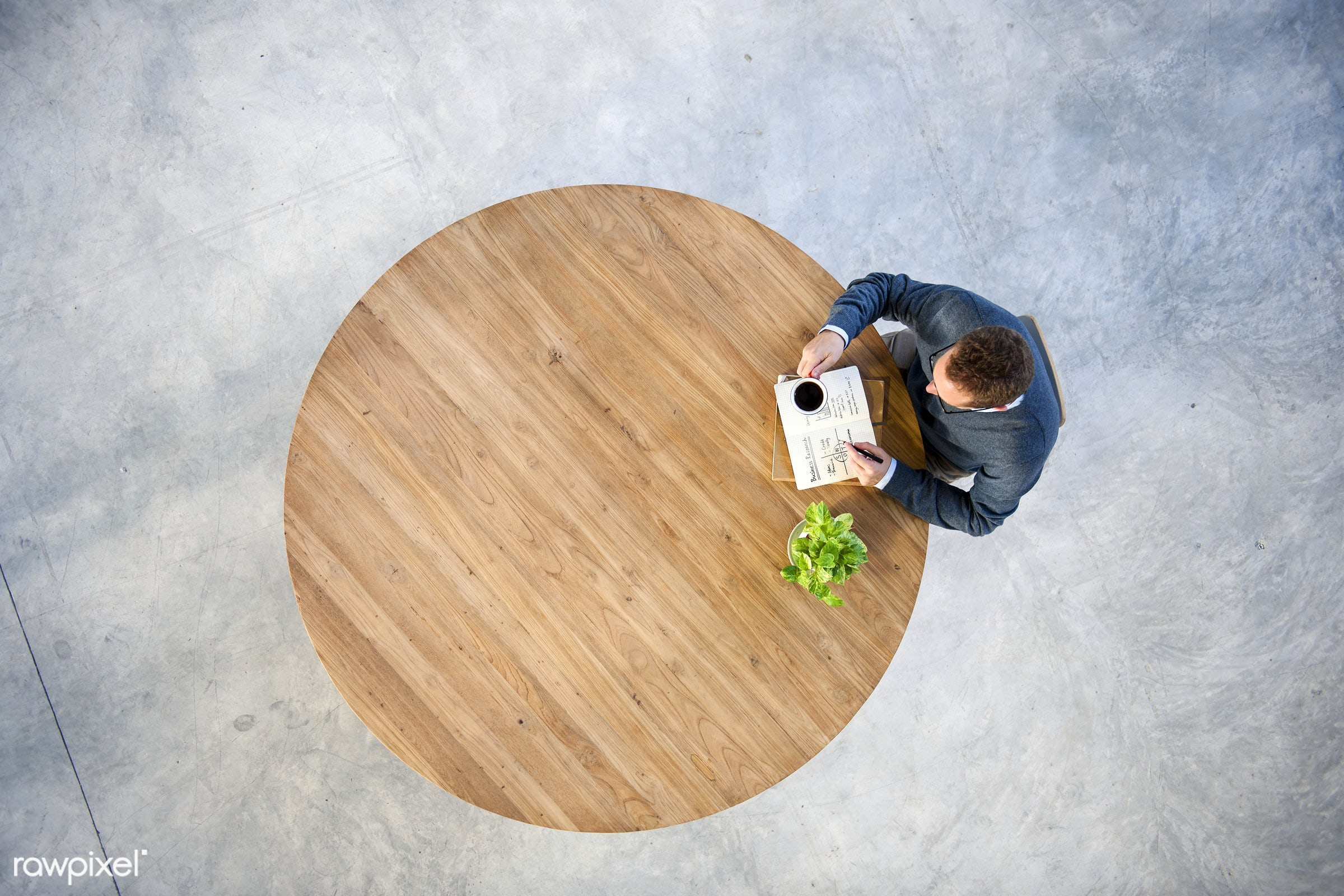 book, businessman, concrete, leisure, break, alone, aerial view, blank, brainstorming, casual, coffee, coffee break,...
