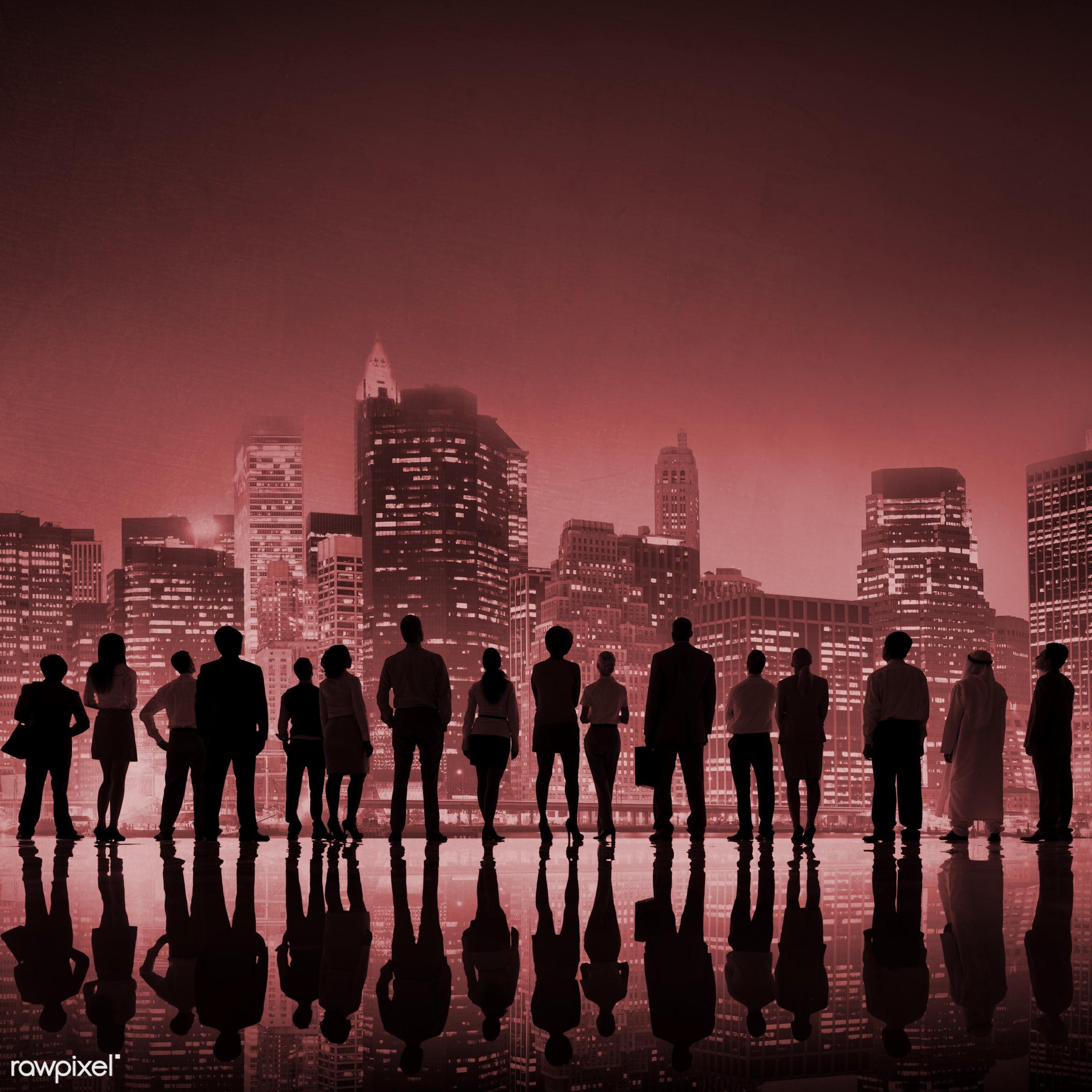 achievement, aim, architecture, back lit, building, business, business people, businessman, businesswoman, city, cityscape,...