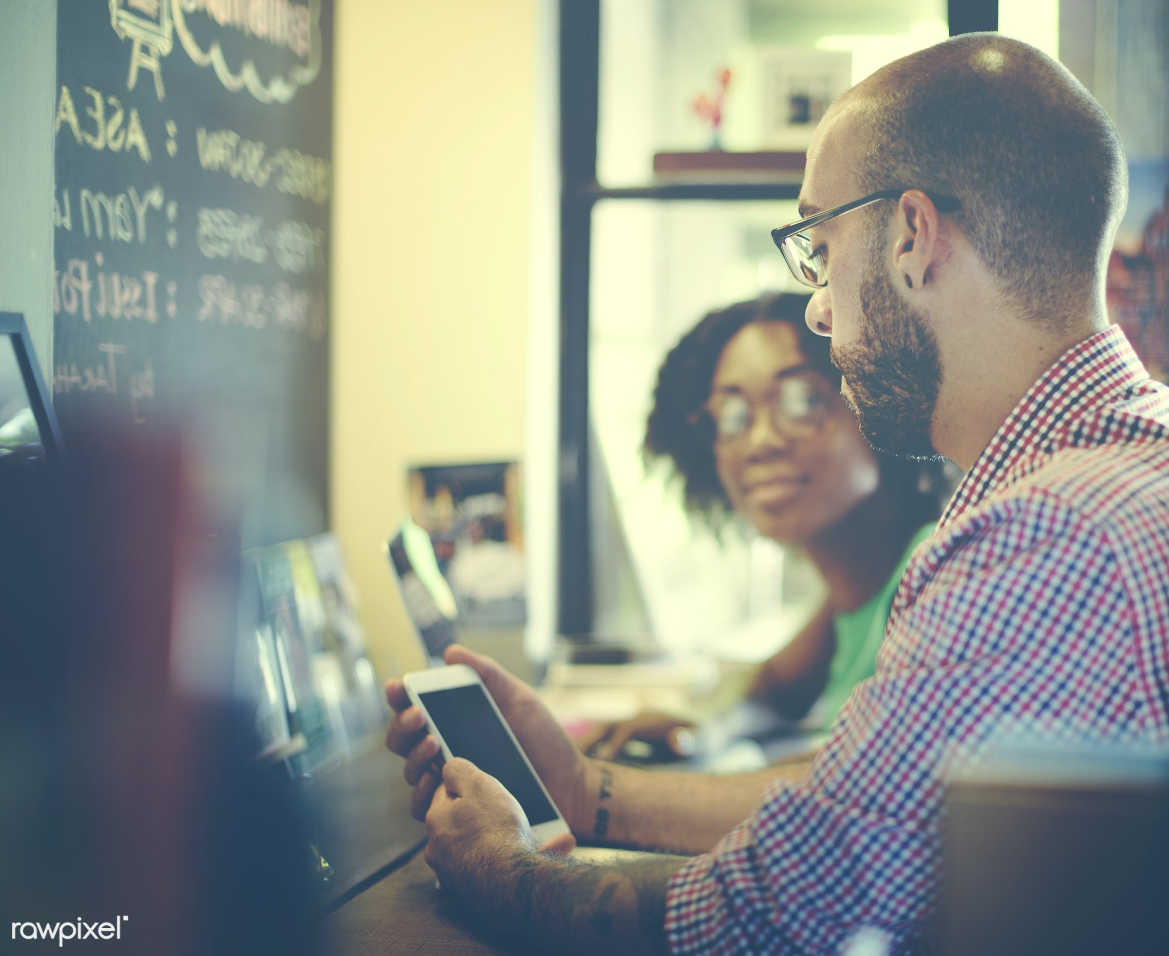 african descent, cafe, casual, cheerful, coffee break, coffee shop, communication, connection, corporate, correspondence,...