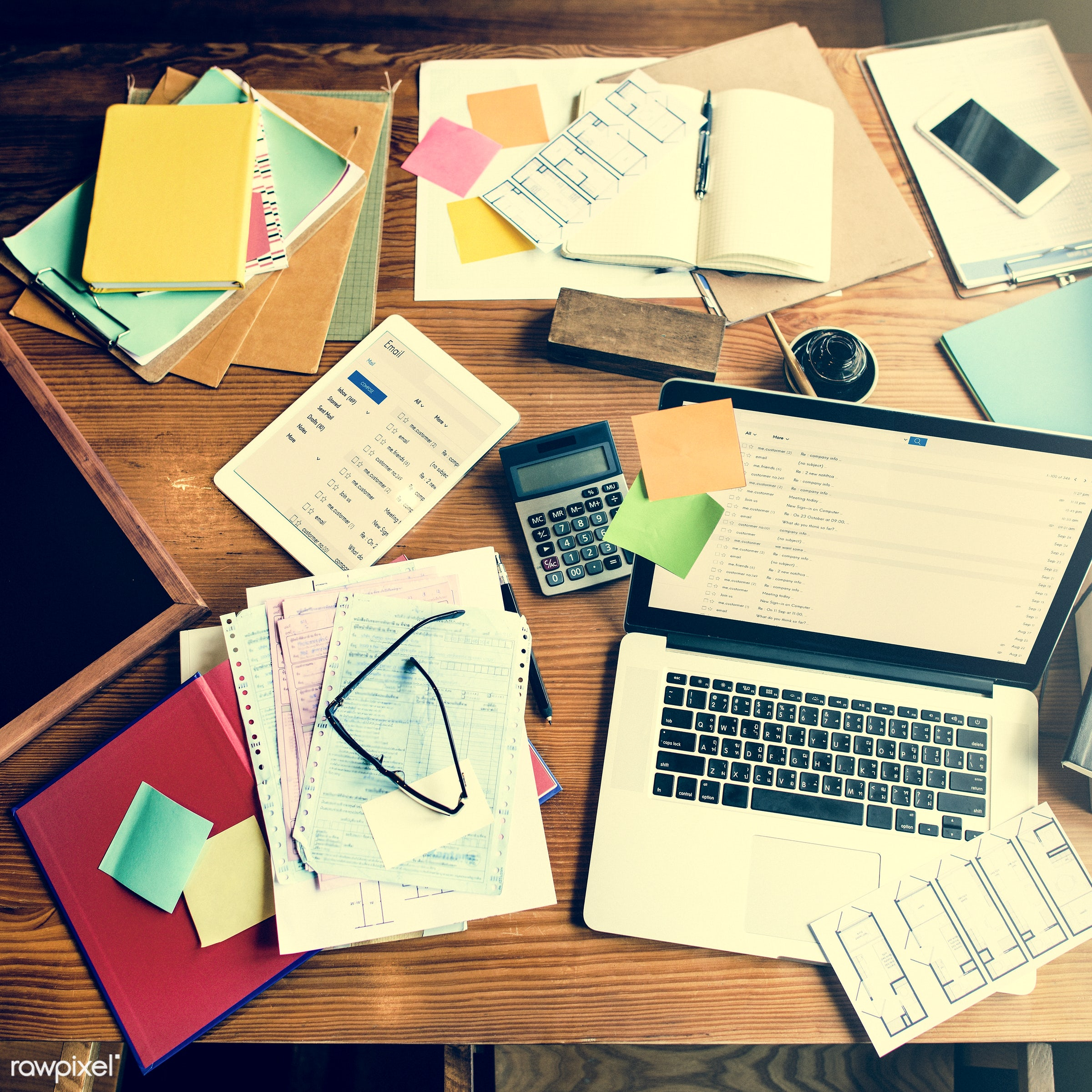 accounting, aerial view, analysis, correspondence, data, digital device, digital tablet, document, email, globalization,...
