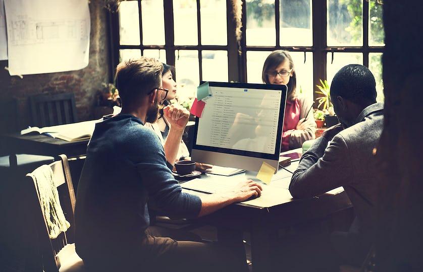 Diverse business colleagues shoot