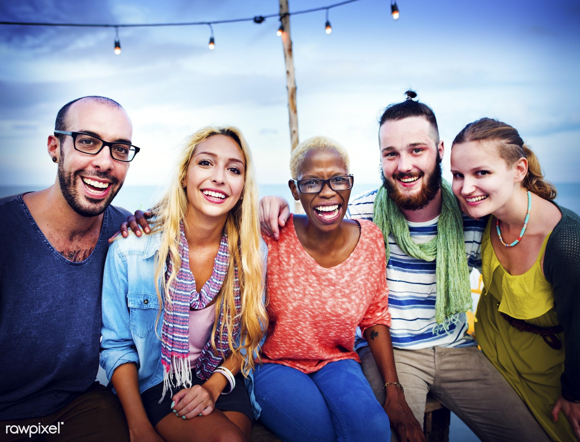 african, african descent, beach, beautiful, bonding, carefree, cheerful, communication, diverse, diversity, enjoyment,...