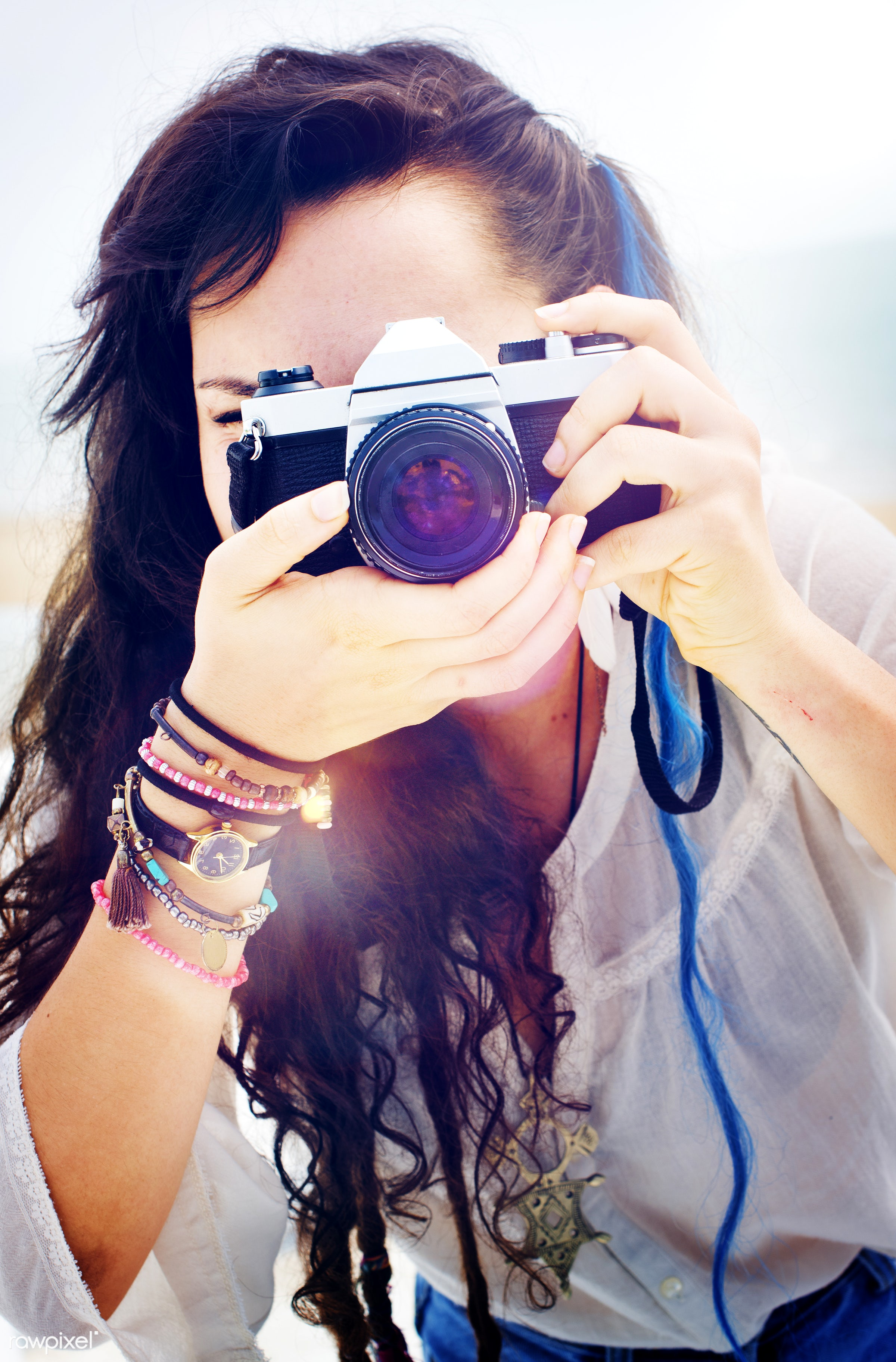 art, attractive, beach, beautiful, camera, casual, caucasian, cheerful, closeup, color, colorful, cool, enjoying, enjoyment...