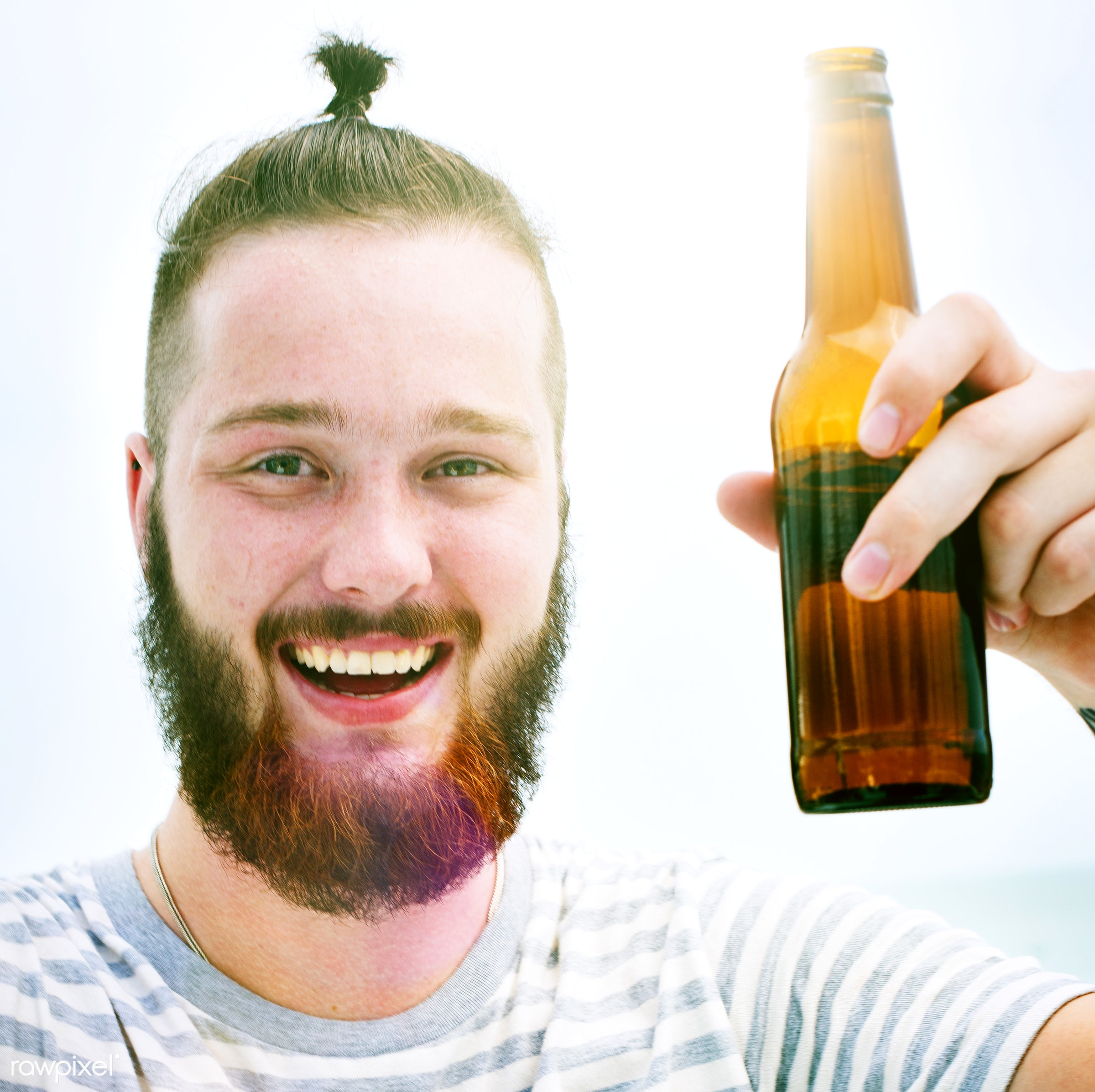 beer, face, relax, smile, adult, art, attractive, beach, beverage, casual, caucasian, cheerful, chilling, closeup, color,...