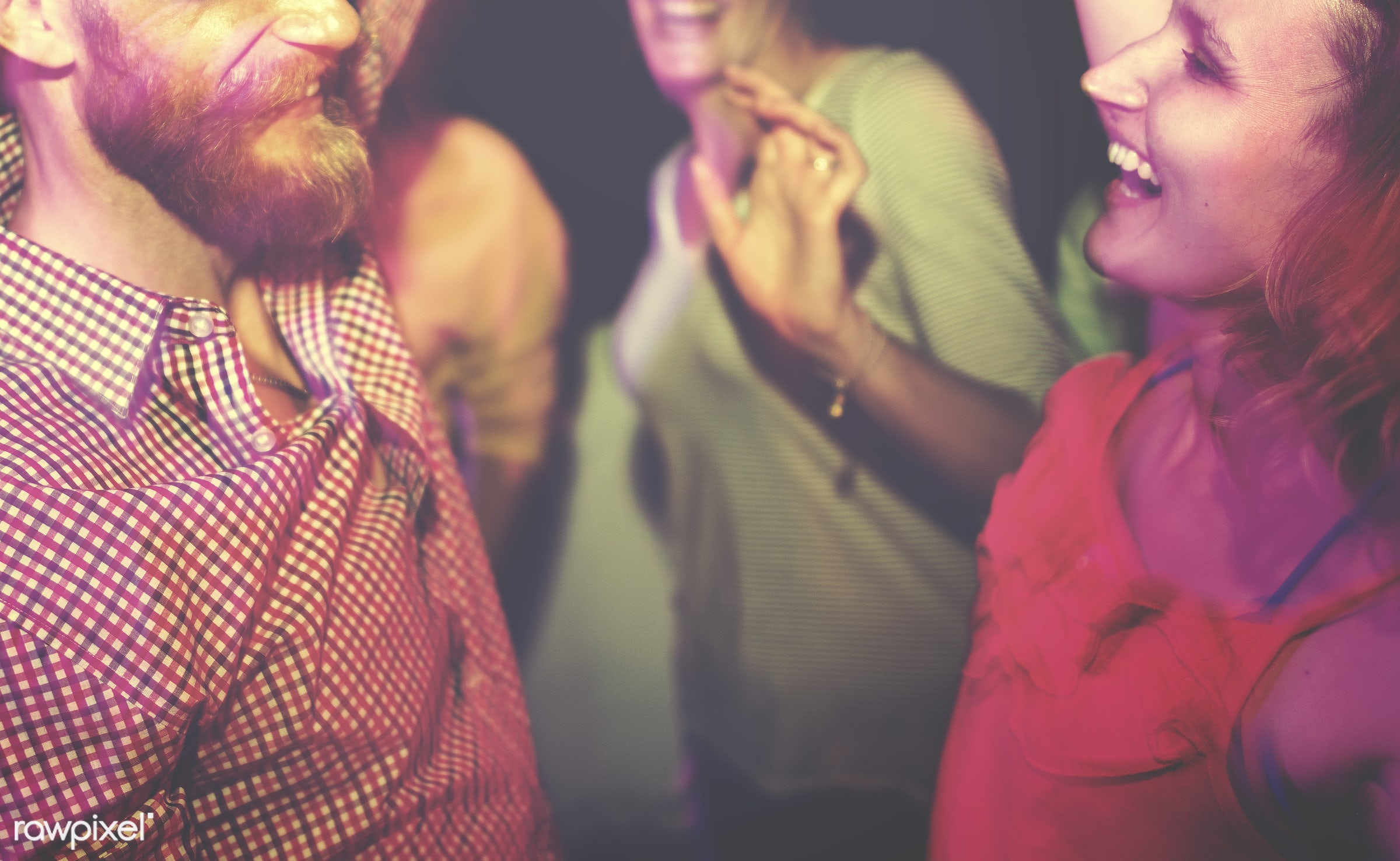 Friends dancing at a summer party - bar, actions, active, adolescence, adult, african, beautiful, celebration, cheerful,...