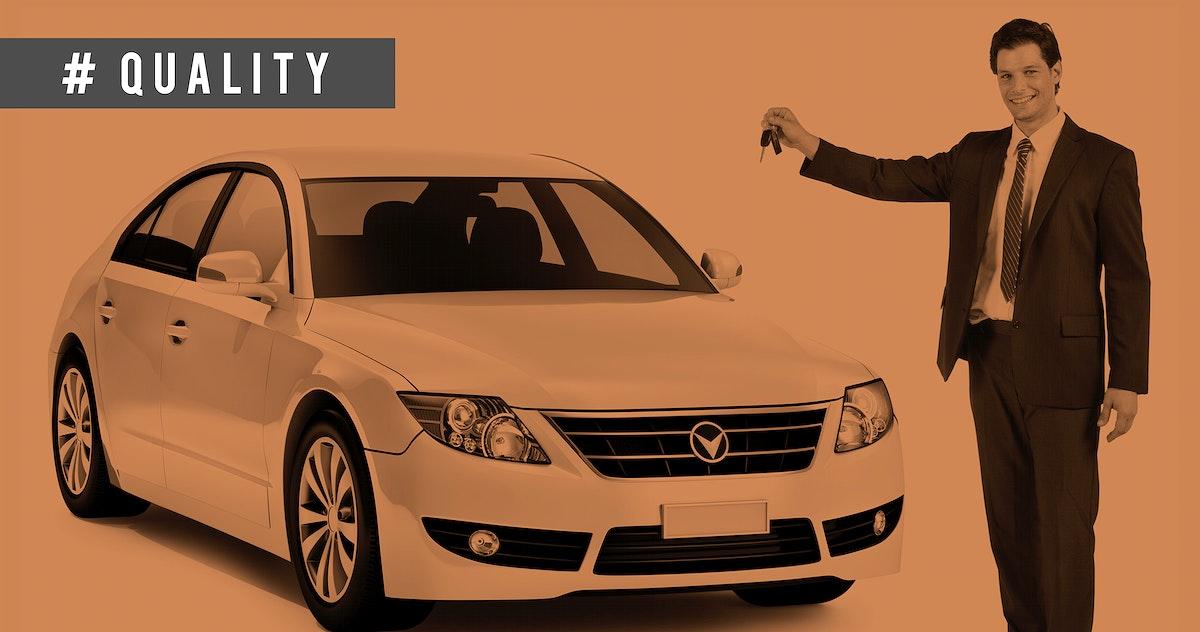 Car Transportation Vehicle Advertising Presenter Concept