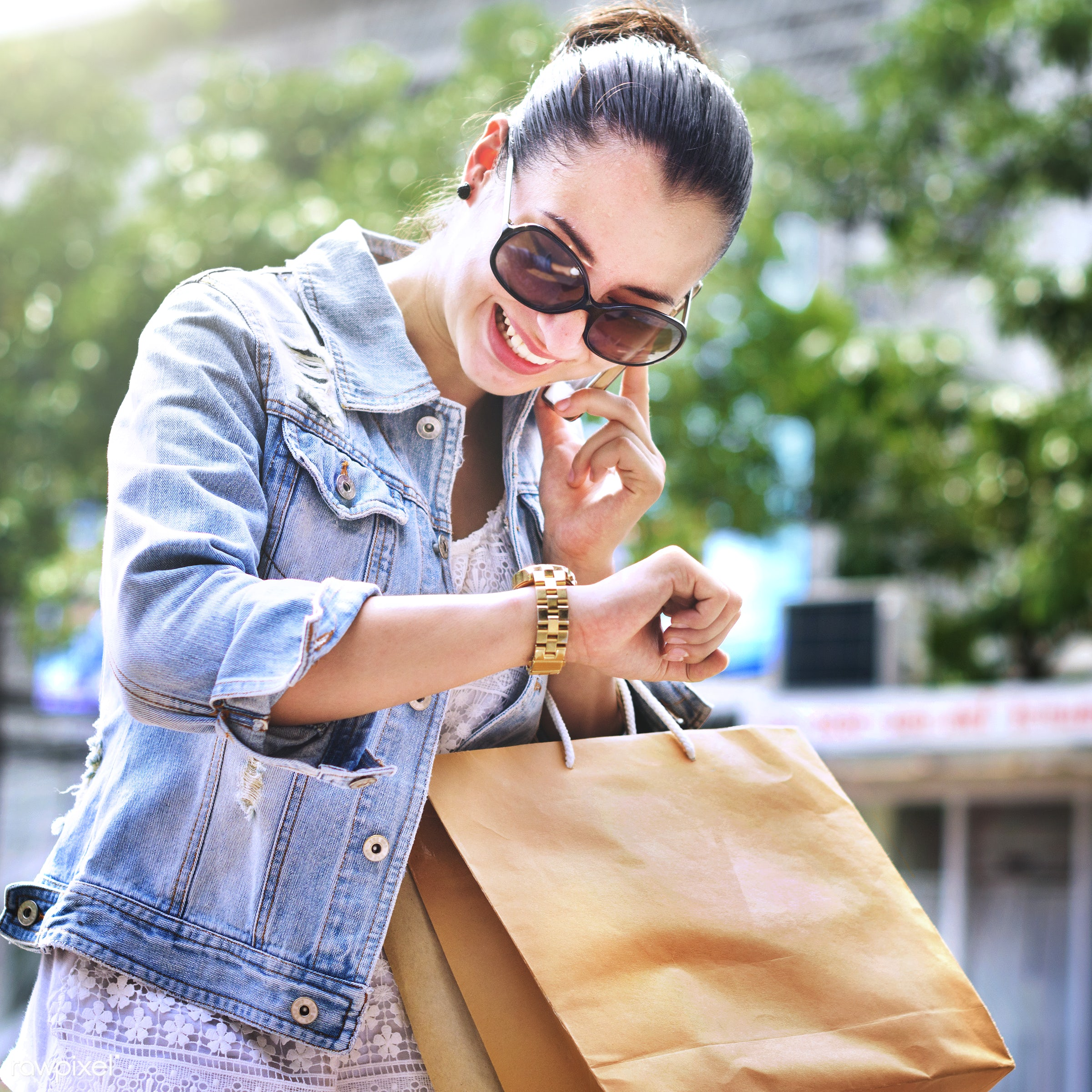 Woman shopping - activity, attractive, buyer, buying, casual, cheerful, commerce, communication, connection, consumer,...
