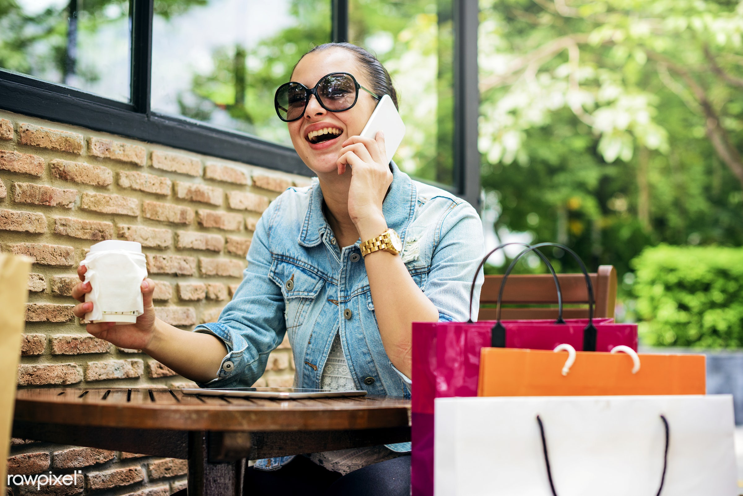 shopping, customer, woman, sale, mall, coffee shop, buyer, buying, cafe, casual, cheerful, coffee, commerce, communication,...