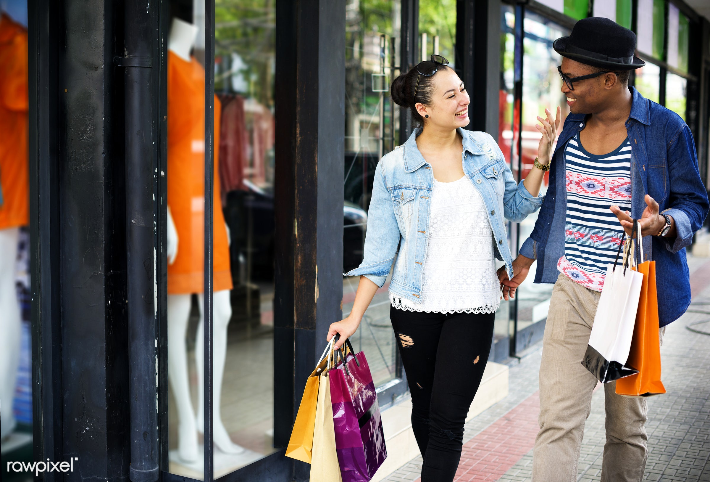 excited, african descent, boyfriend, buyer, buying, casual, cheerful, commerce, consumer, consumerism, couple, customer,...