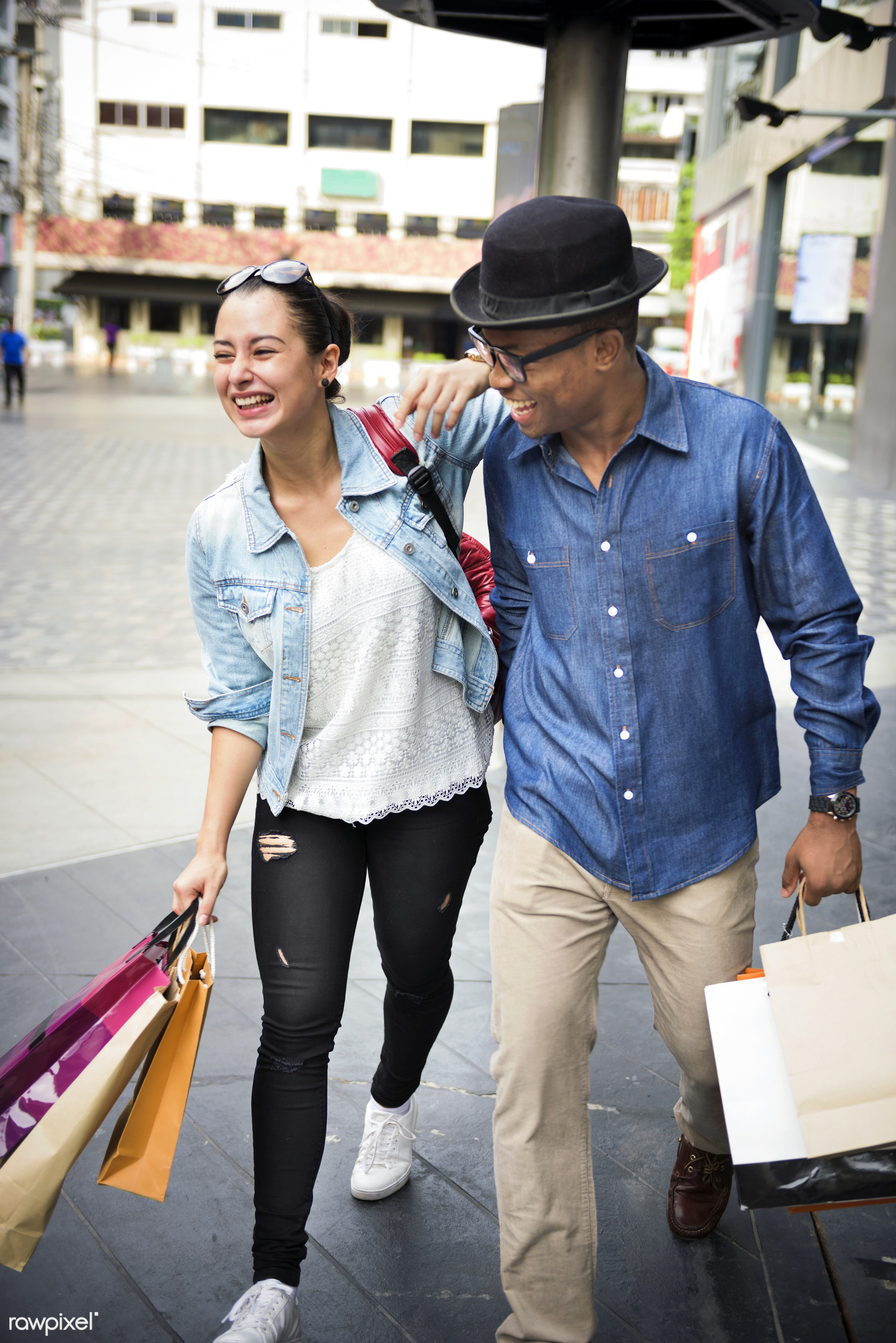 mall, african descent, boyfriend, buyer, buying, casual, cheerful, commerce, consumer, consumerism, couple, customer,...
