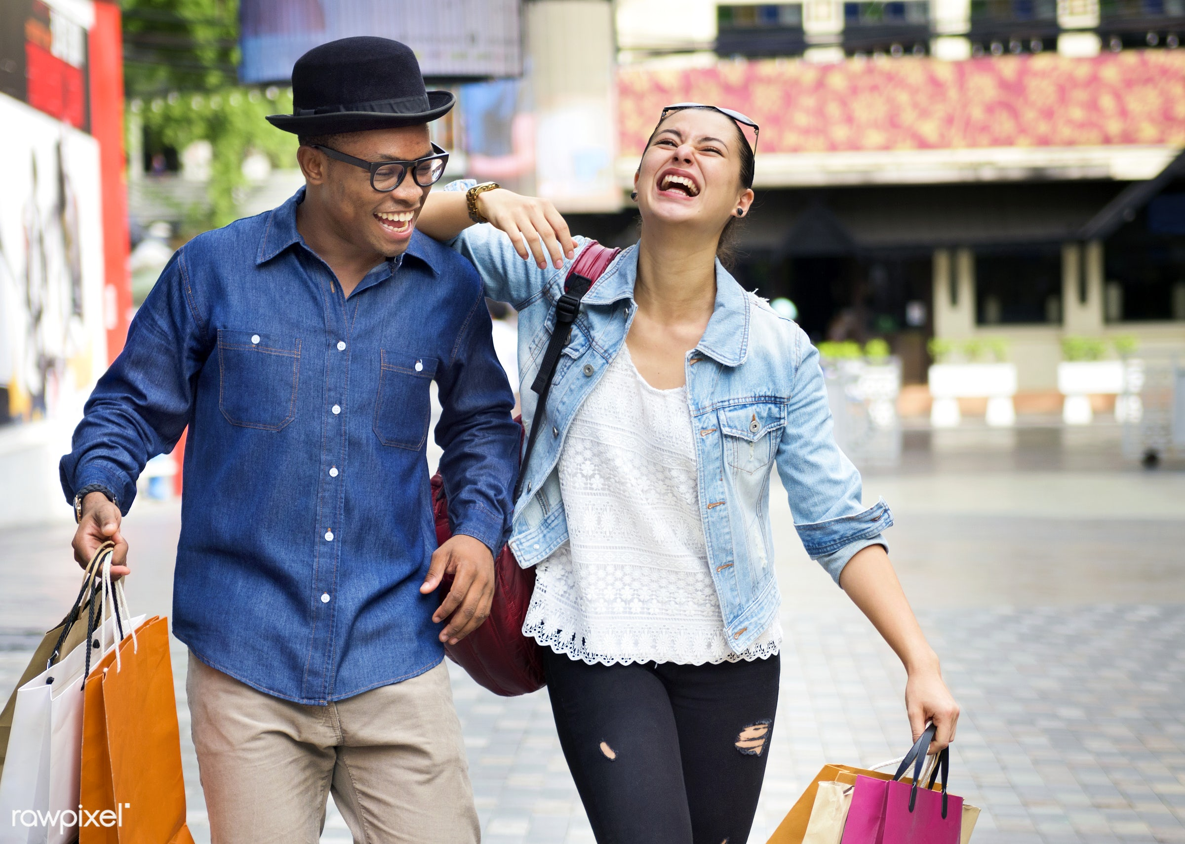 smiling, african descent, boyfriend, buyer, buying, casual, cheerful, commerce, consumer, consumerism, couple, customer,...