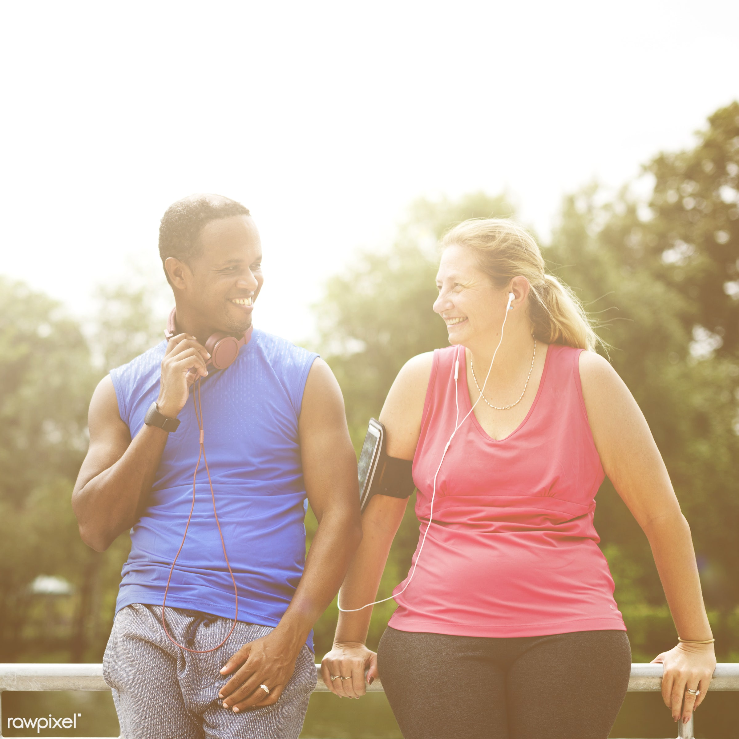 active, activity, adult, african american, body, caucasian, couple, device, diversity, exercise, exercising, fitness,...