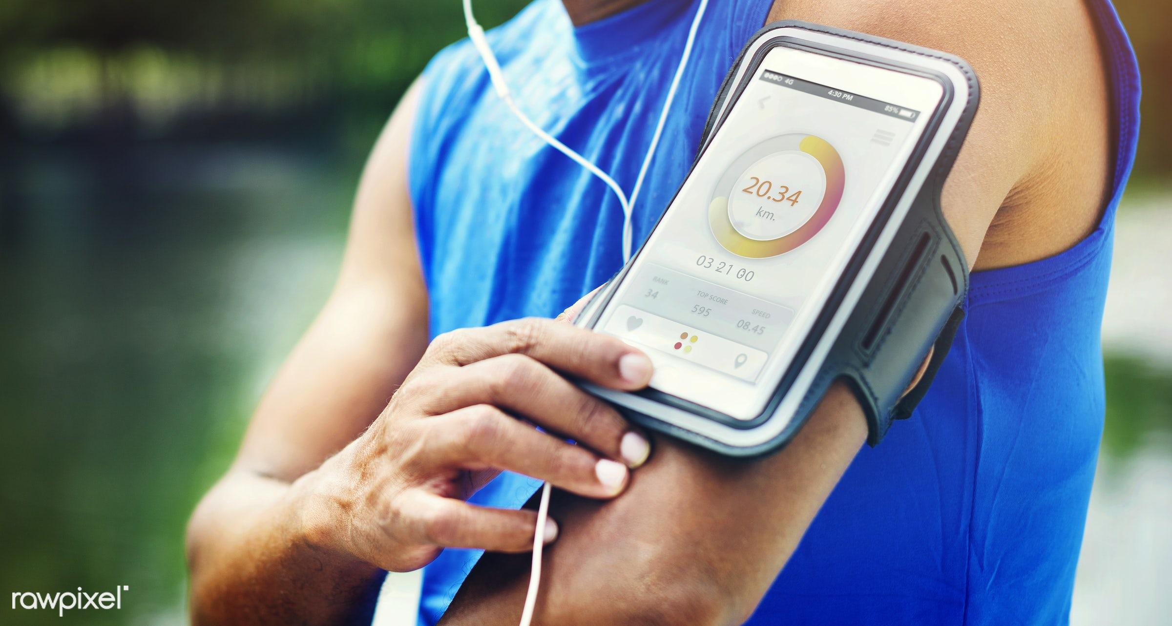app, marathon, run, running, active, activity, arm, armband, arms, athlete, athletic, cardio, device, distance, earphones,...