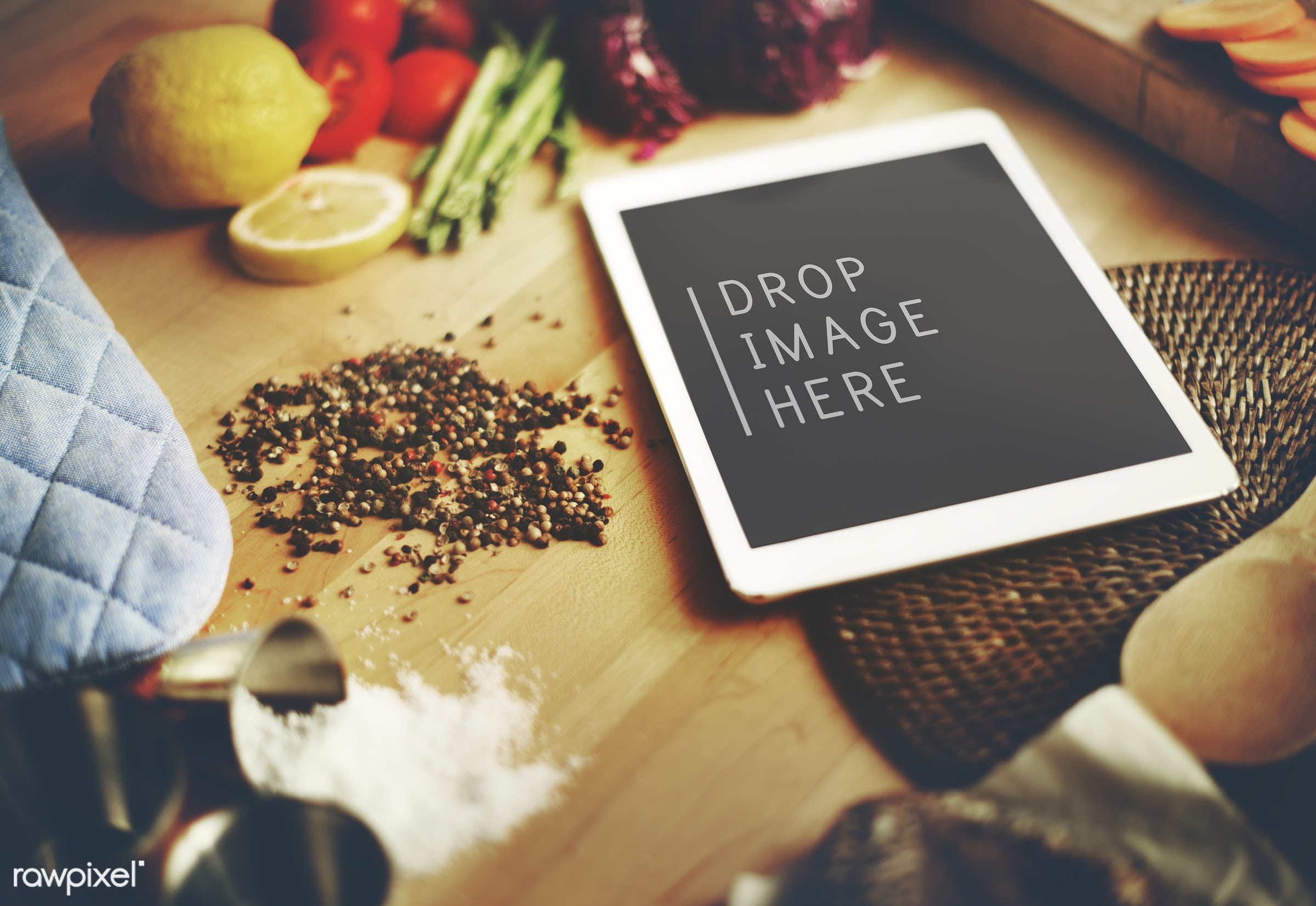 background, blank, book, breakfast, closeup, cook, cooking, copy space, cuisine, device, digital, dinner, dish, dishware,...
