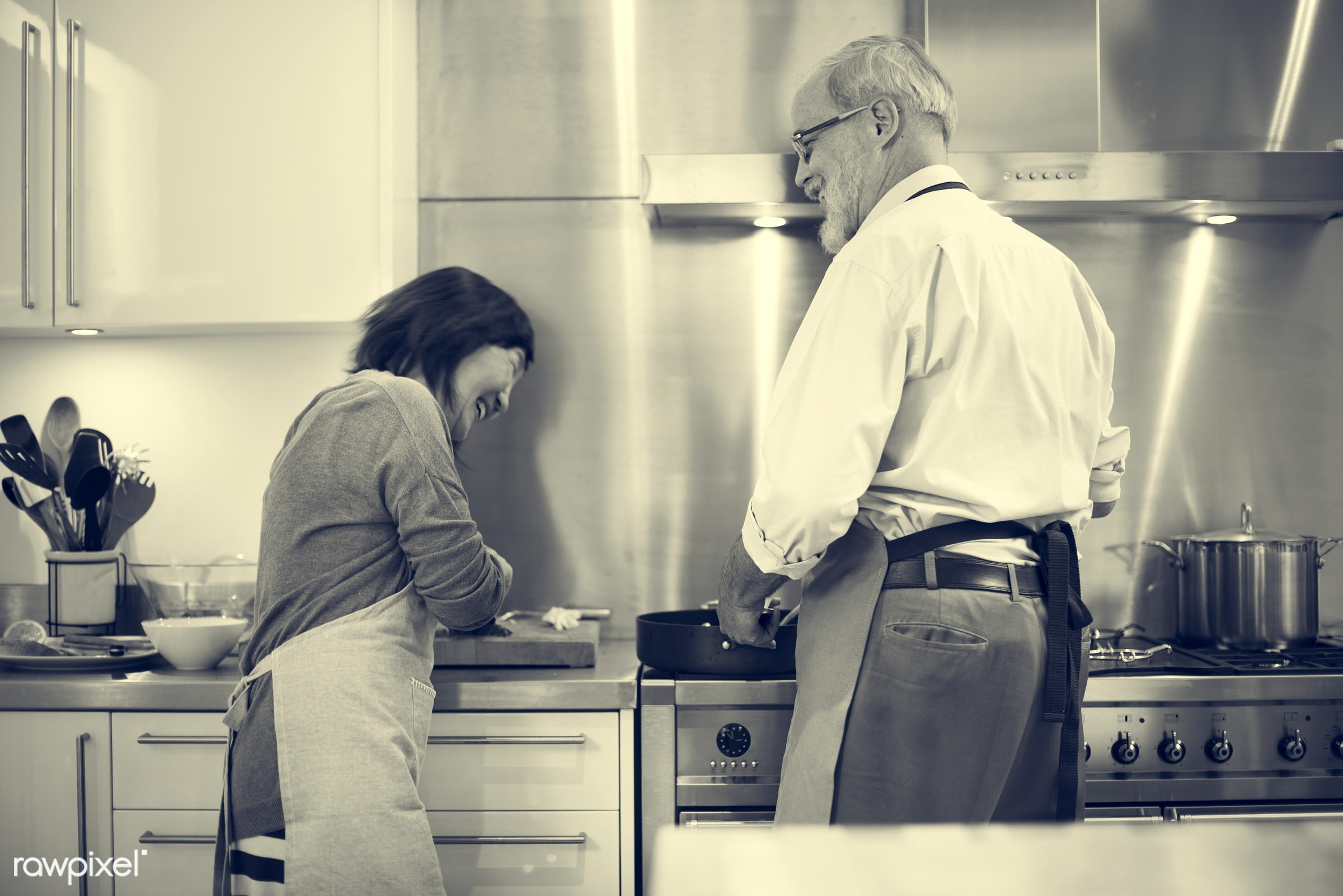 activity, apron, asian, breakfast, care, caucasian, cheerful, chef, close, communication, connection, cooking, couple, diet...