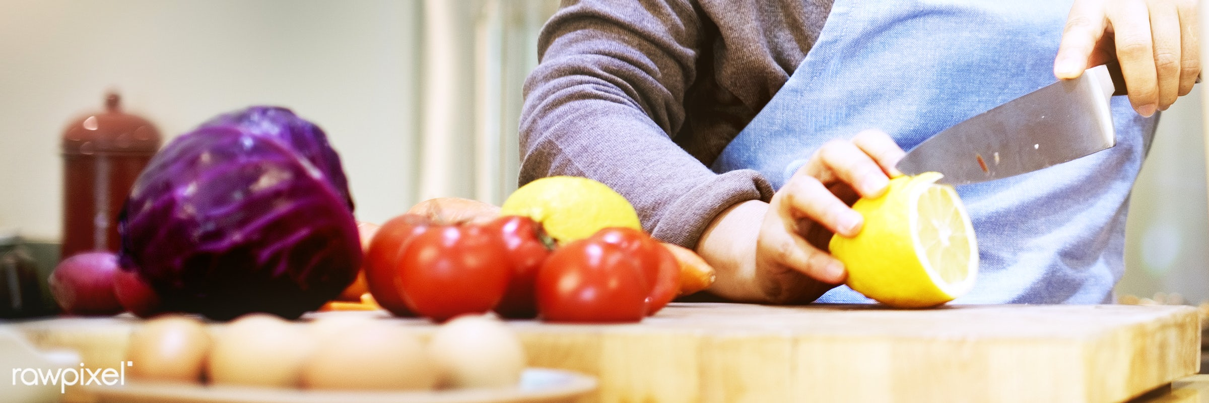 activity, adult, aged, apron, chef, cook, cookery, cooking, counter, culinary, cutting, food, fresh, fruit, health, healthy...