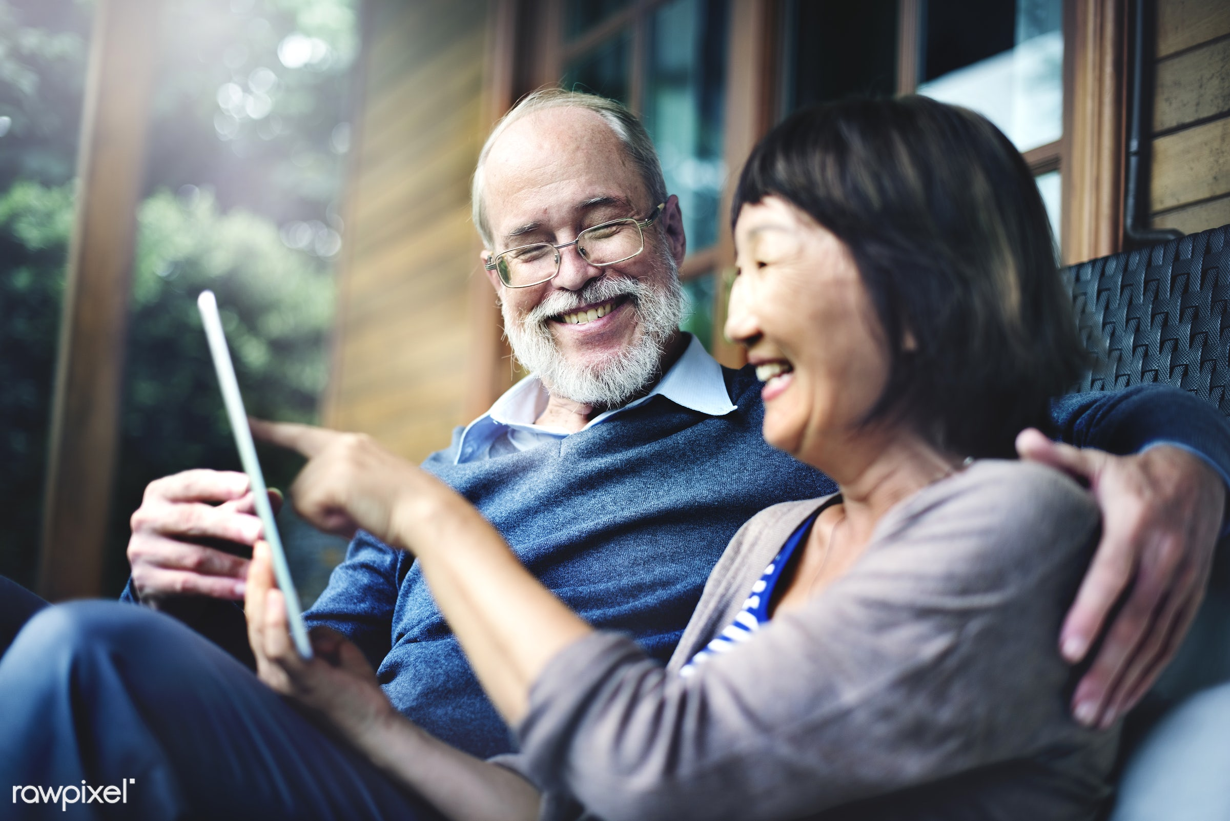 attraction, beautiful, carefree, cheerful, communication, connection, couple, desire, devices, digital tablet, electronics,...