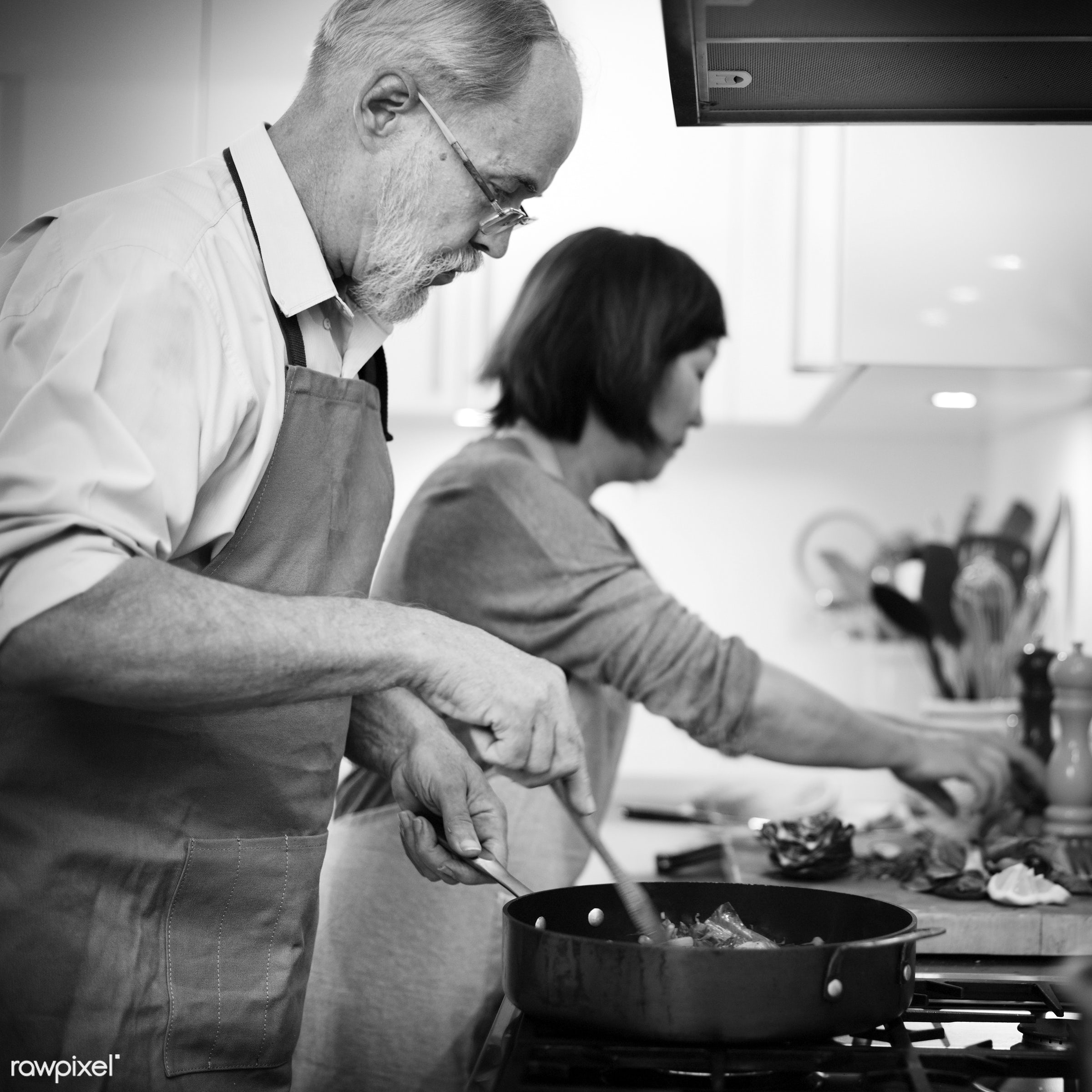 grandmother, cook, adult, bonding, bowl, chef, cooked, cooking, couple, cuisine, culinary, dinner, enjoyment, equipment,...
