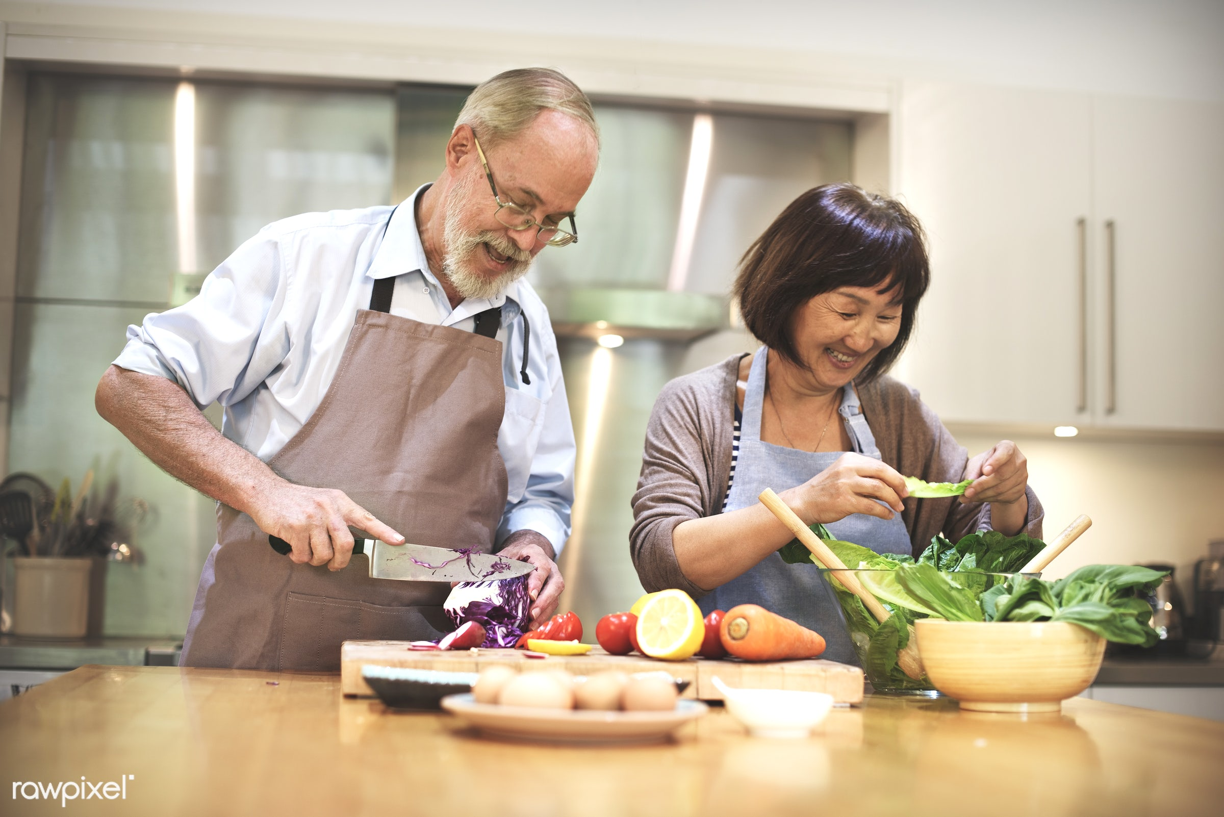 activity, apron, bonding, breakfast, casual, cheerful, chef, chopping block, cookery, cookhouse, cooking, couple, cuisine,...